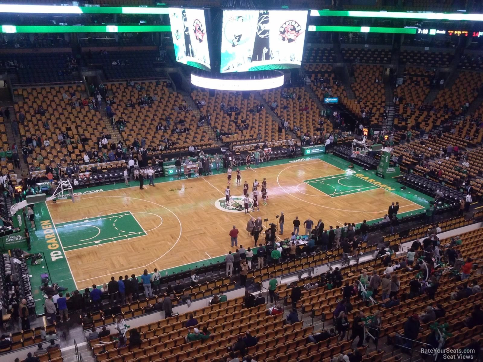 Boston Celtics Seat View for TD Garden Section 317