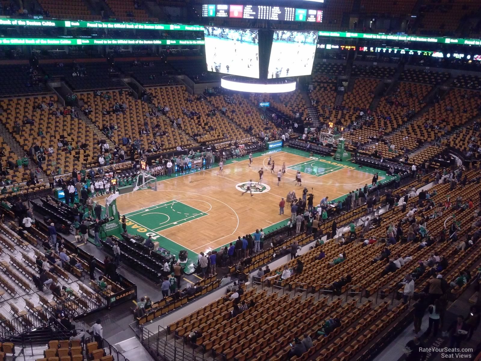 Boston Celtics Seat View for TD Garden Section 319