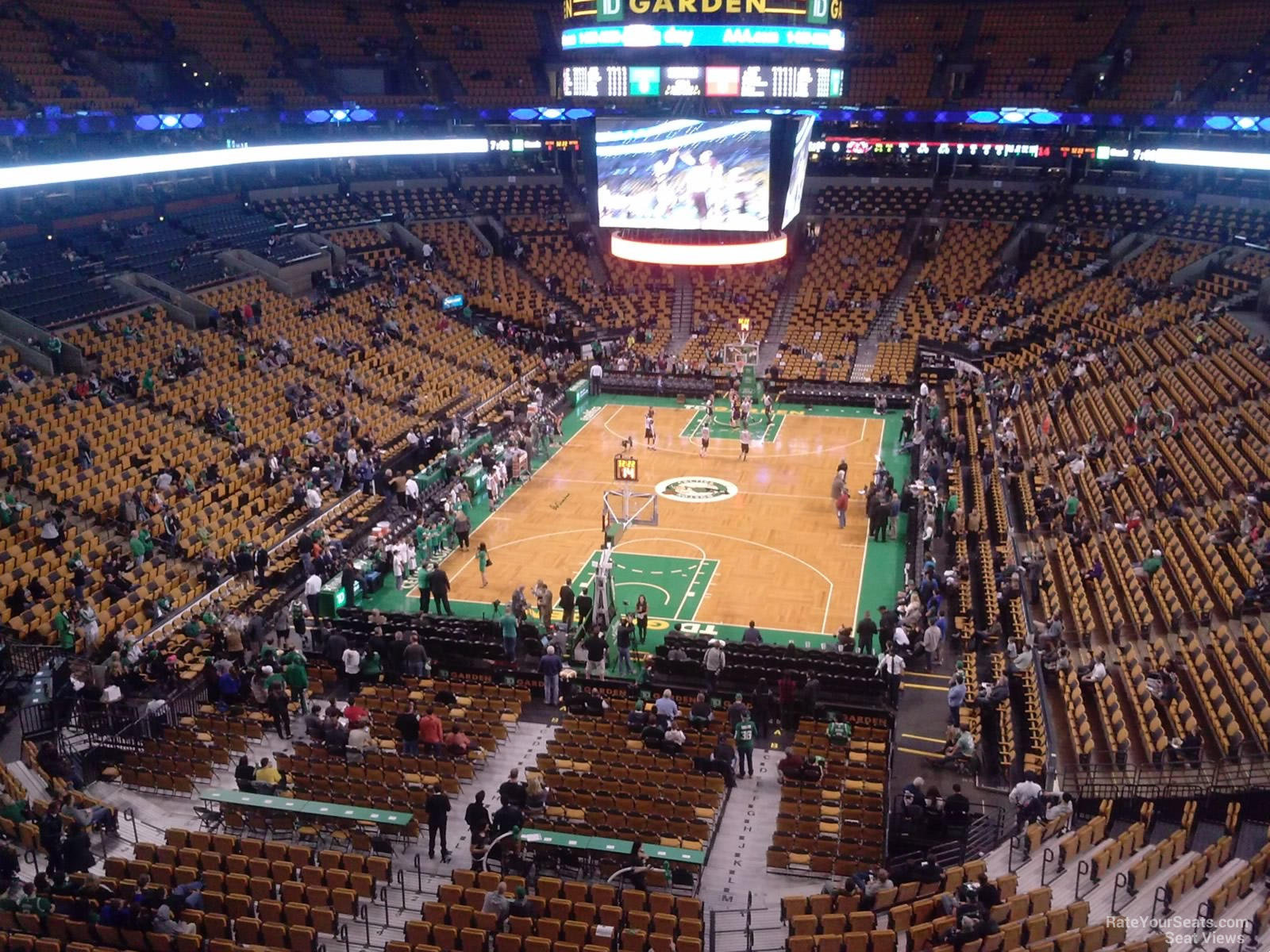 Boston Celtics Seat View for TD Garden Section 323