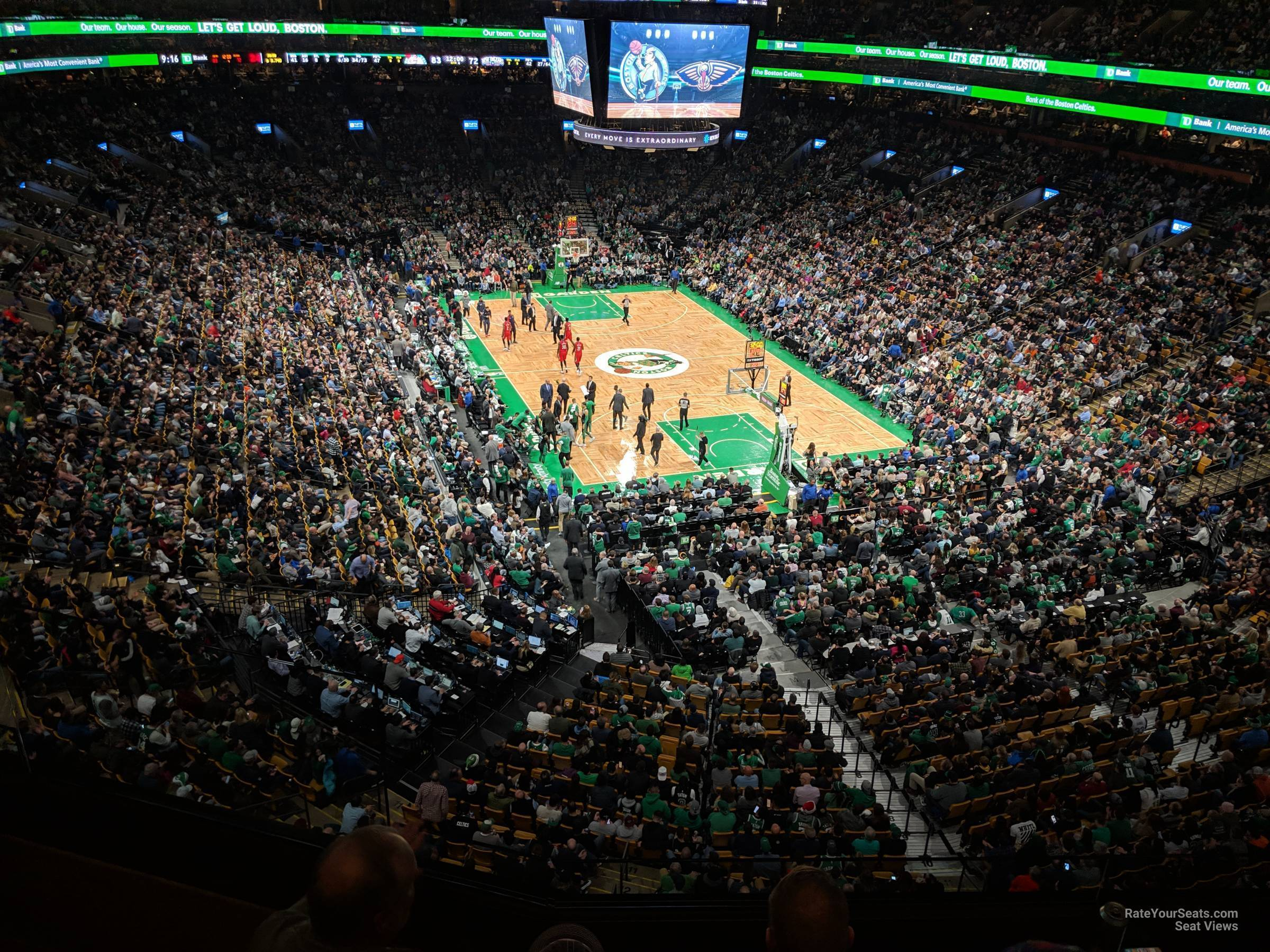 Boston Celtics Seat View for TD Garden Section 325, Row 3