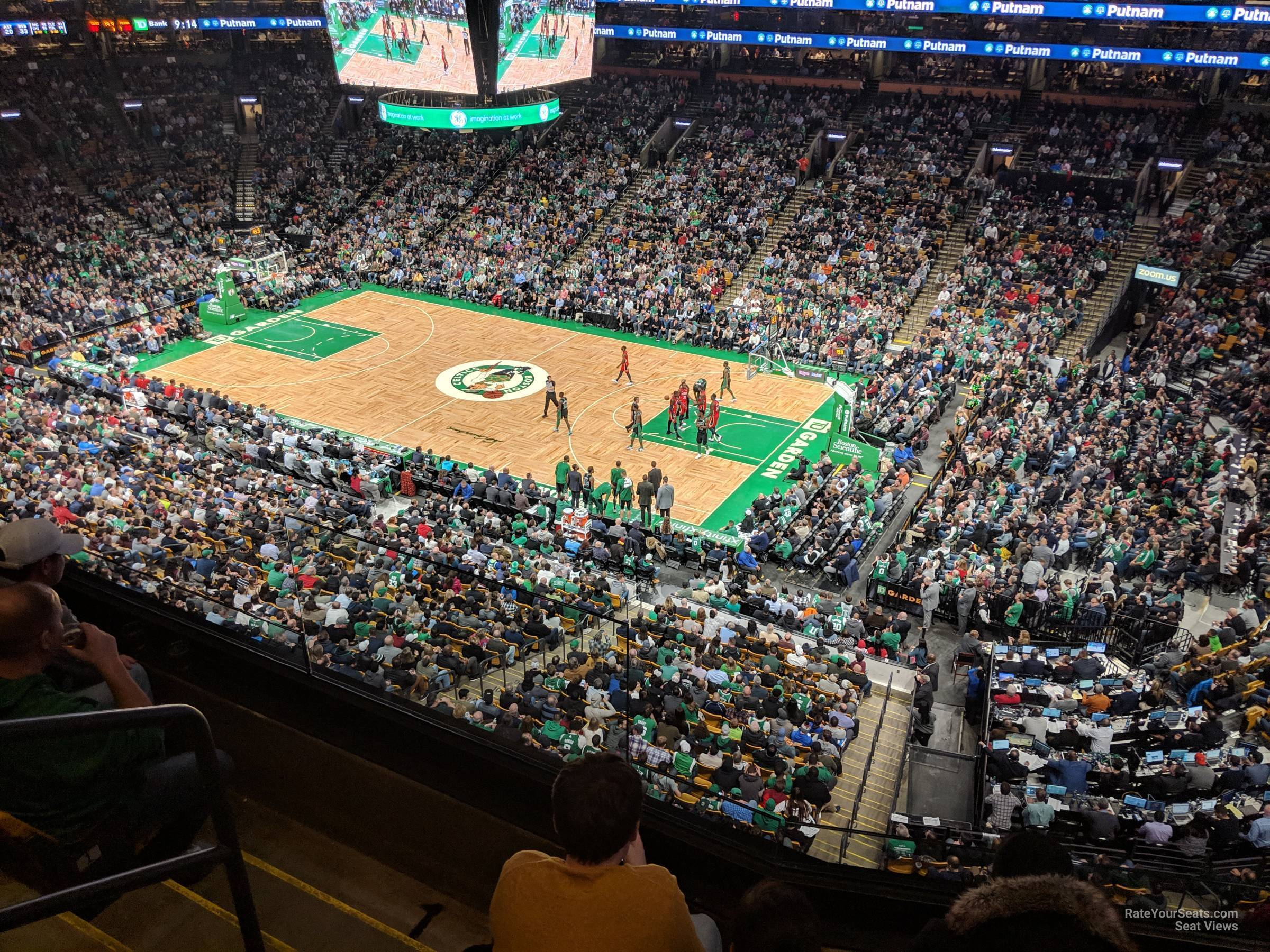 Boston Celtics Seat View for TD Garden Section 328, Row 3