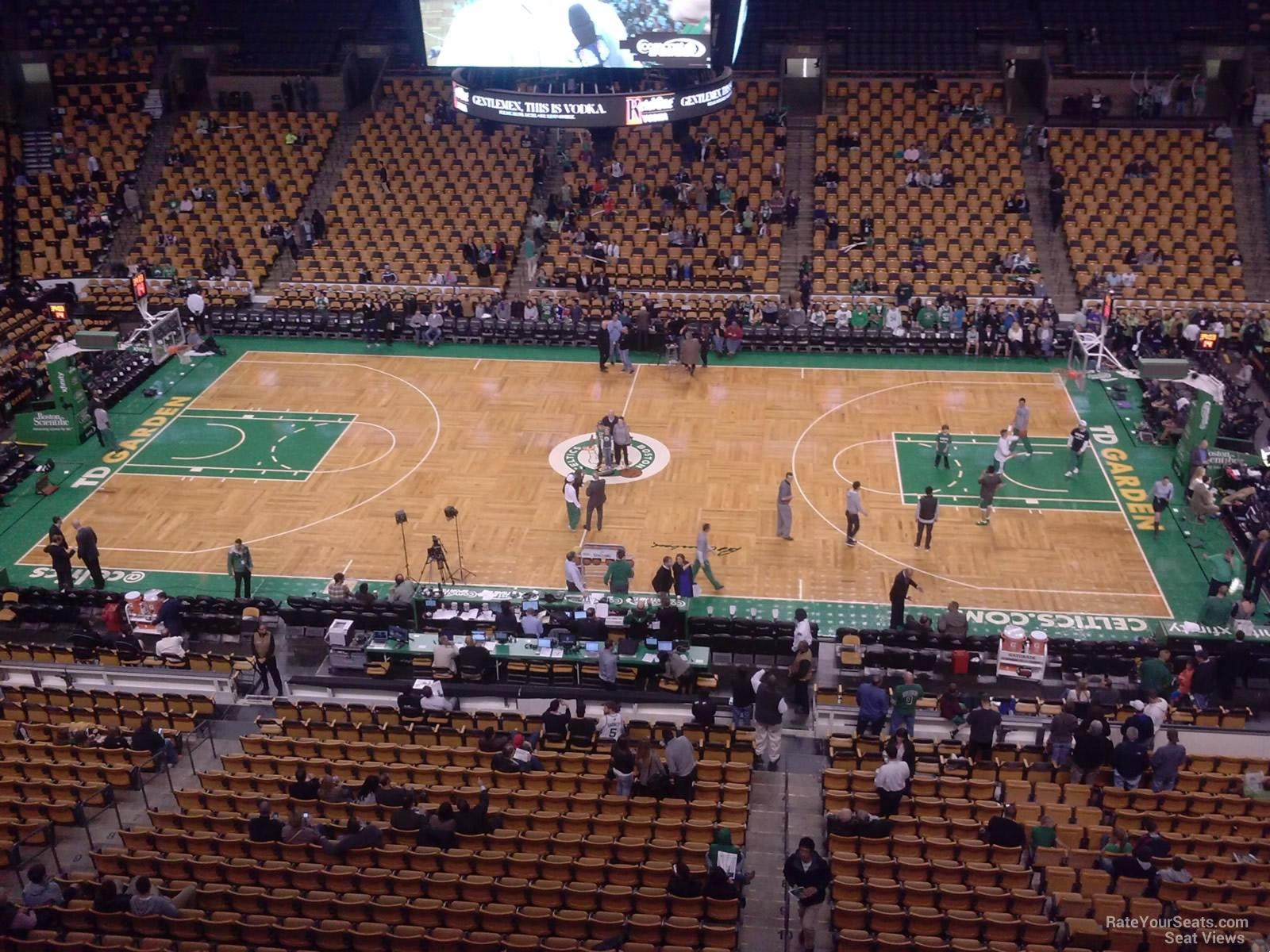 Boston Celtics Seat View for TD Garden Section 330