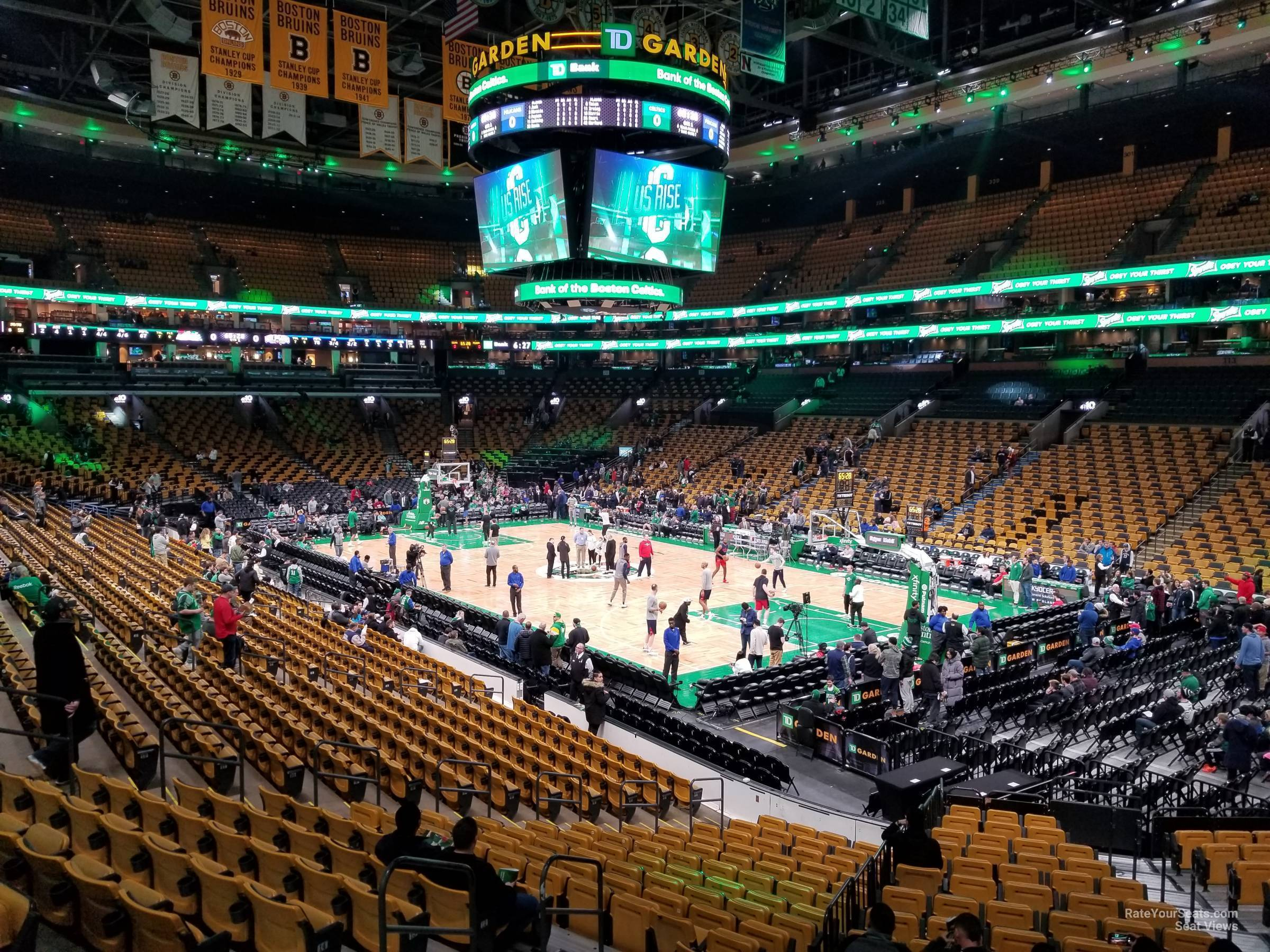 Boston Celtics Seat View for TD Garden Loge 9, Row 20