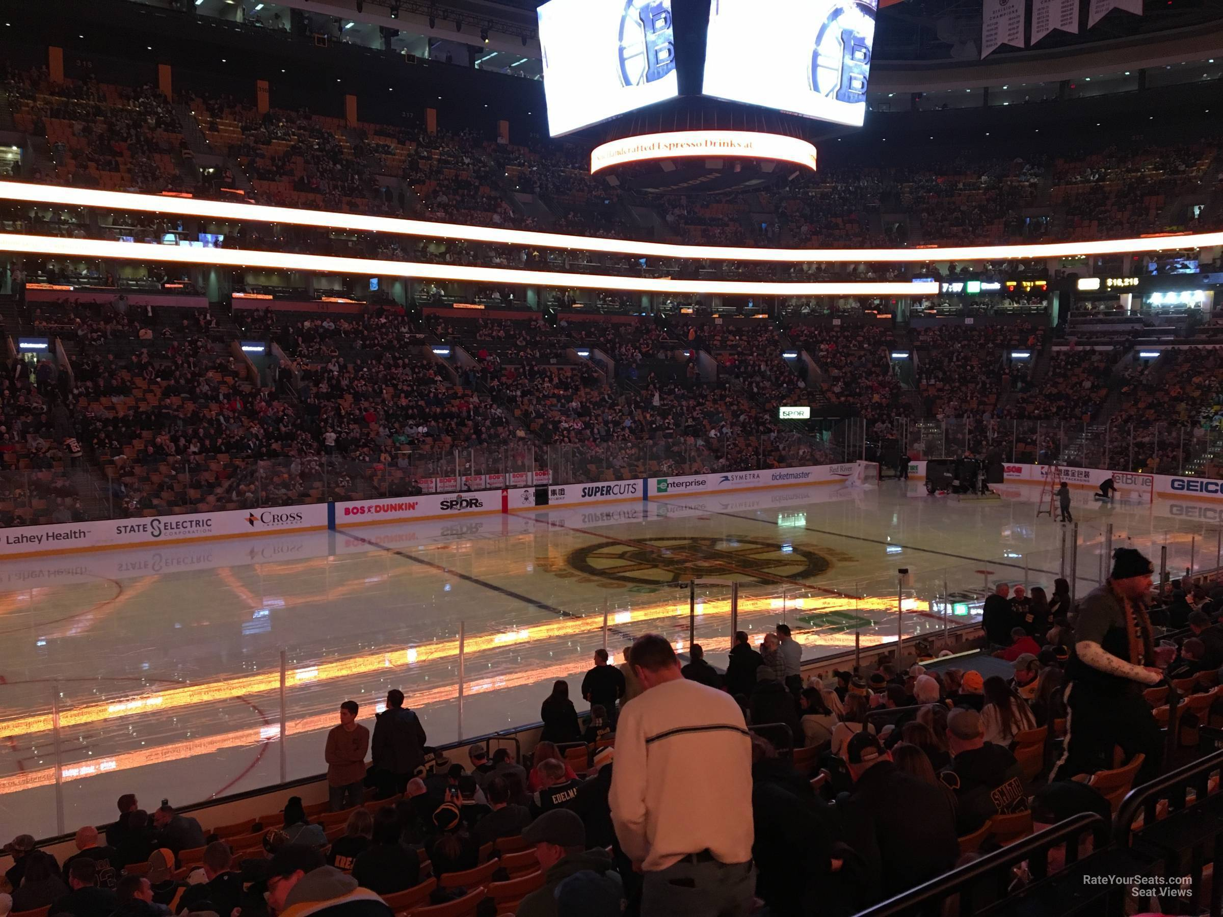 Boston Bruins Seat View for TD Garden Loge 3, Row 15