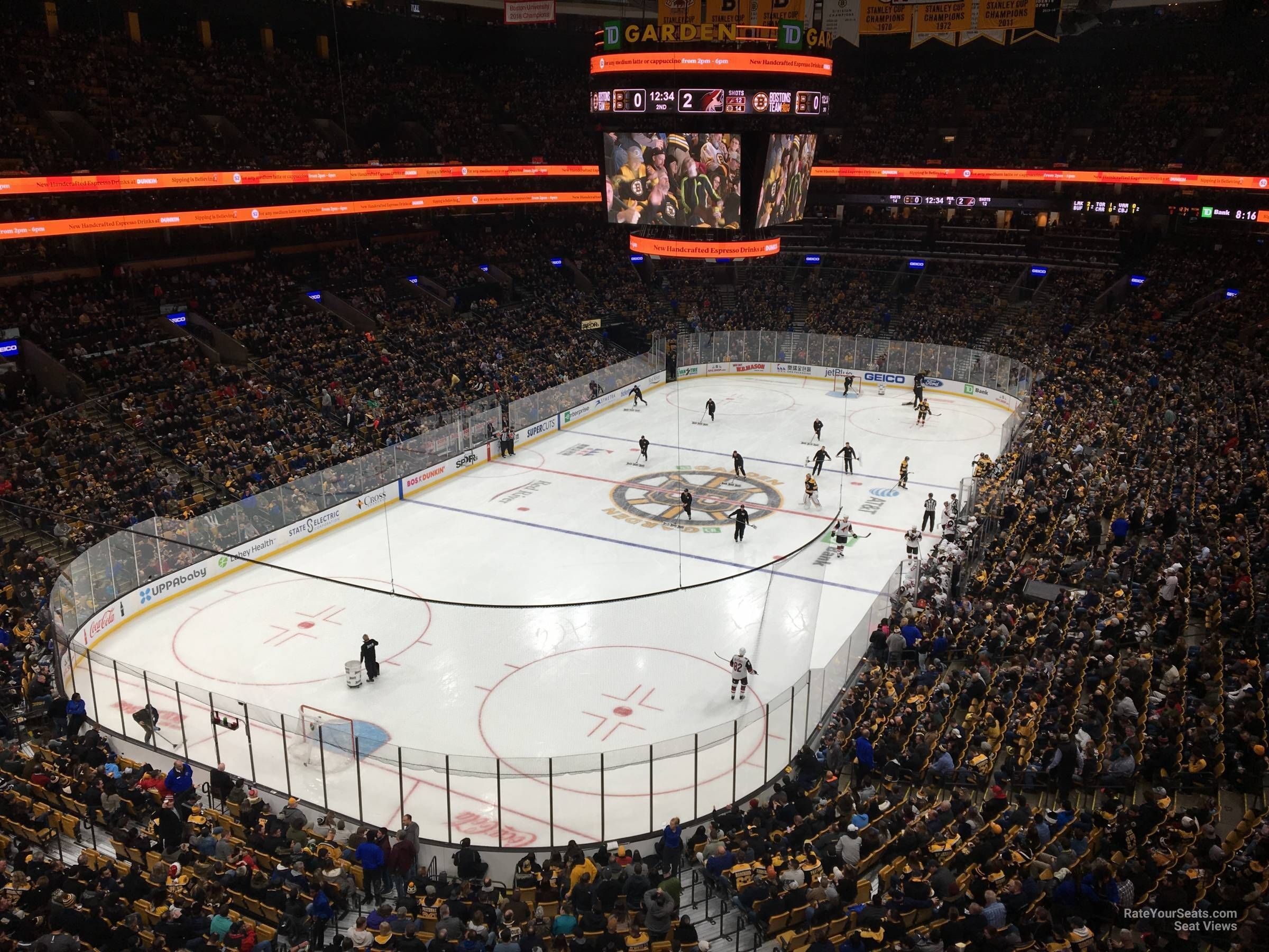 Boston Bruins Seat View for TD Garden Section 306, Row 3