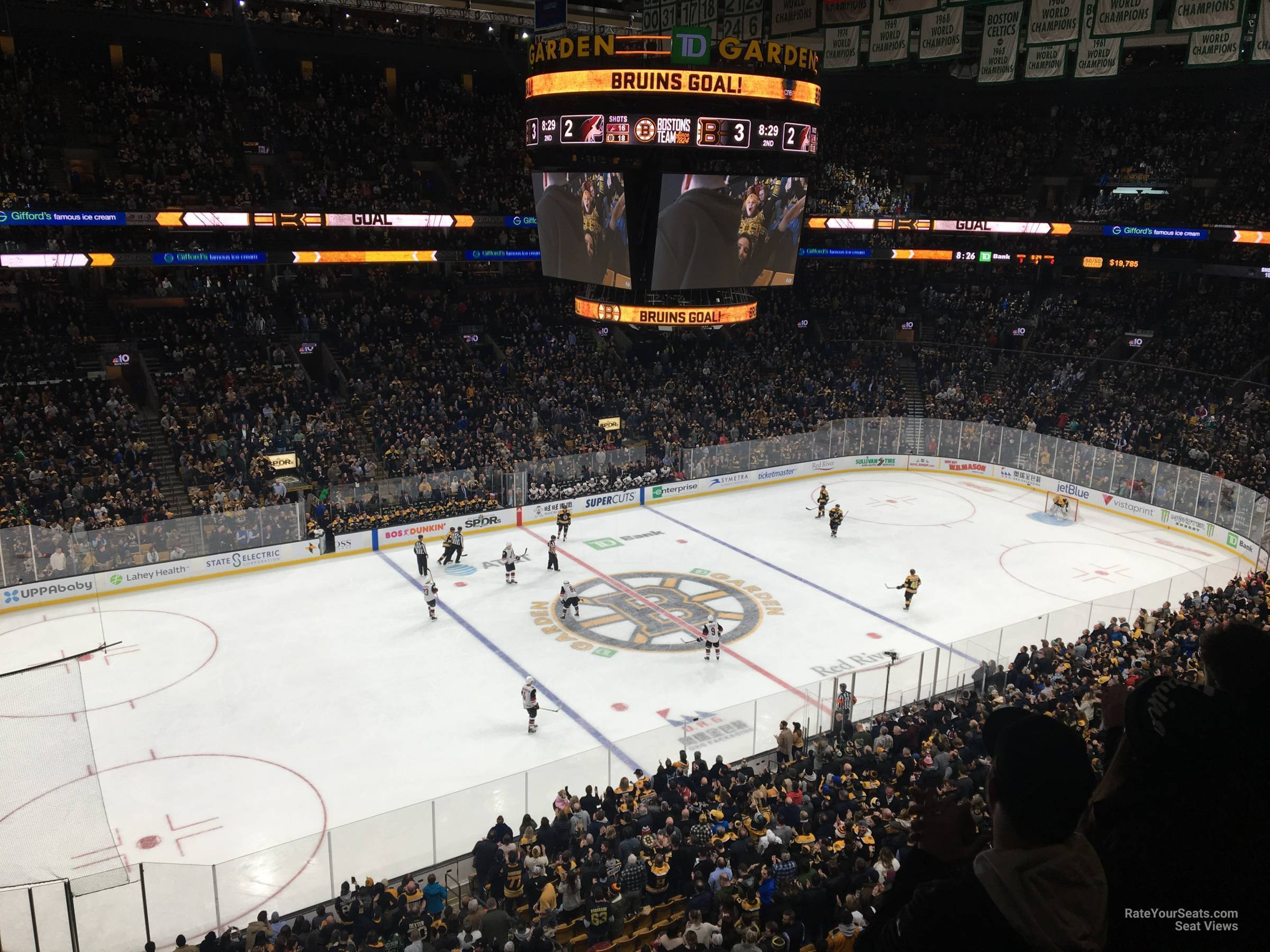 Boston Bruins Seat View for TD Garden Section 318, Row 3