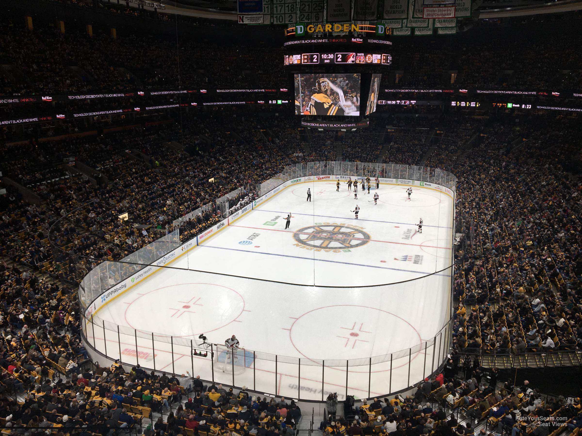 Boston Bruins Seat View for TD Garden Section 322, Row 3