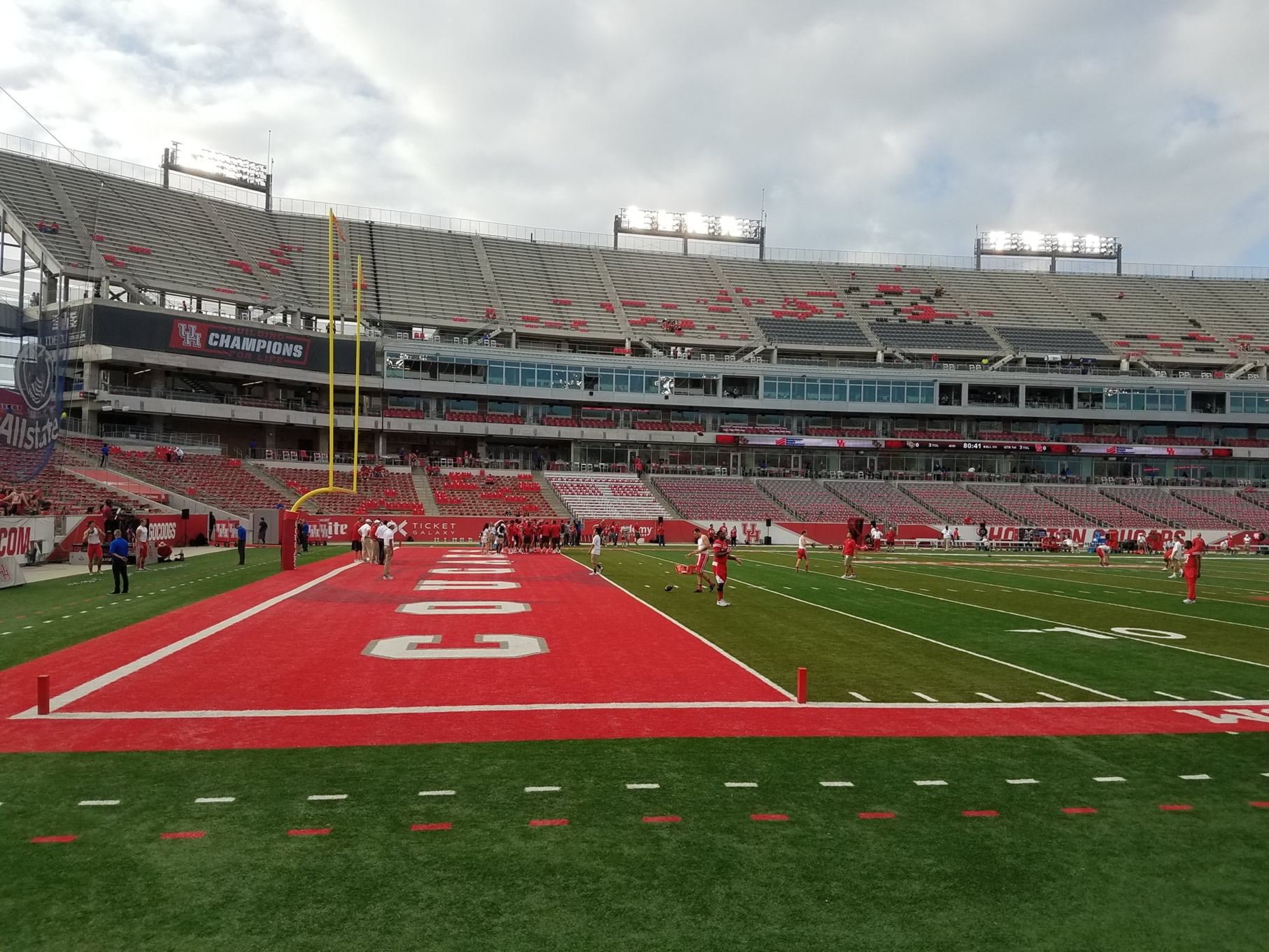 Seat View for TDECU Stadium Section 133, Row 1
