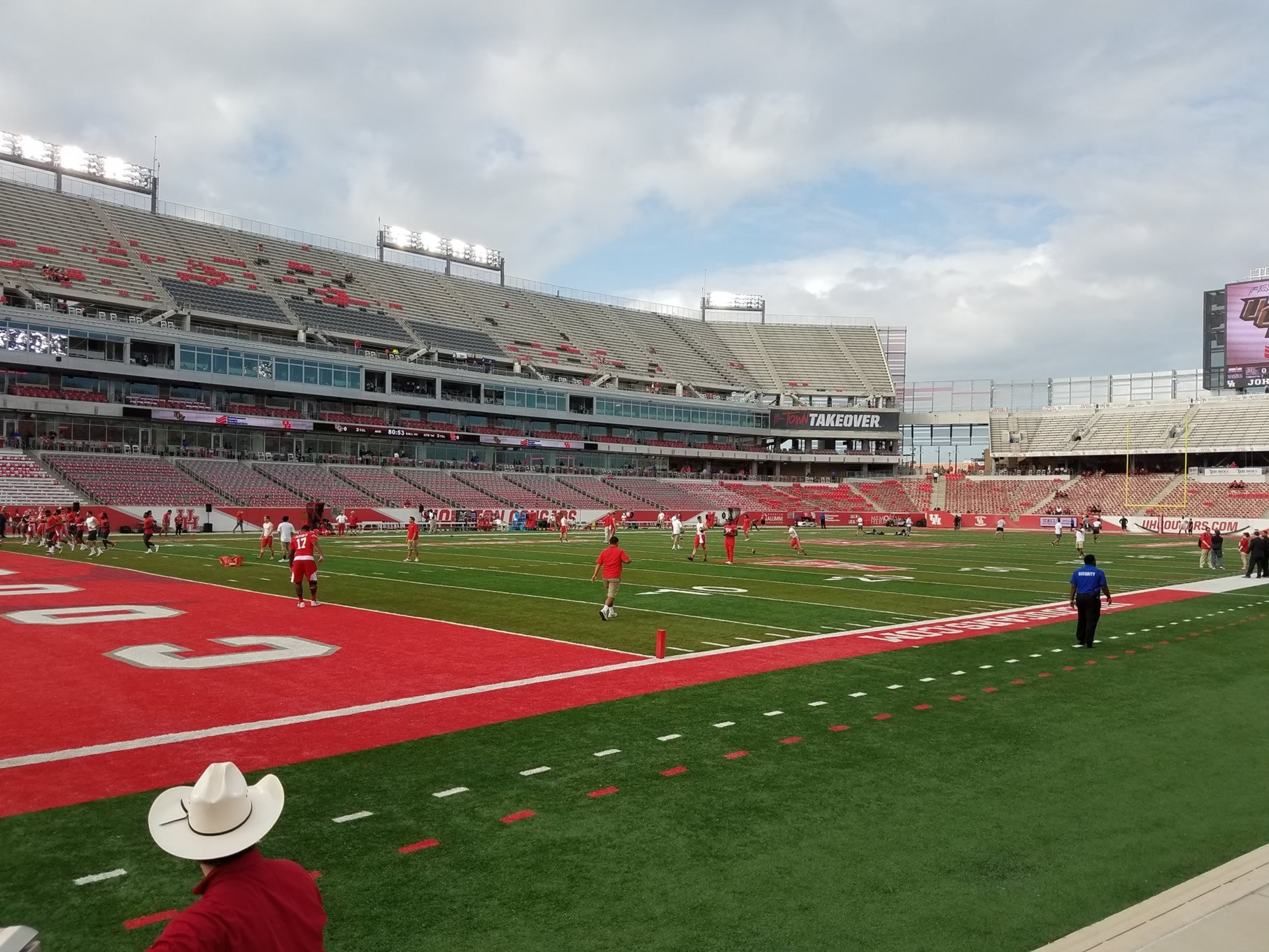 Seat View for TDECU Stadium Section 134, Row 1