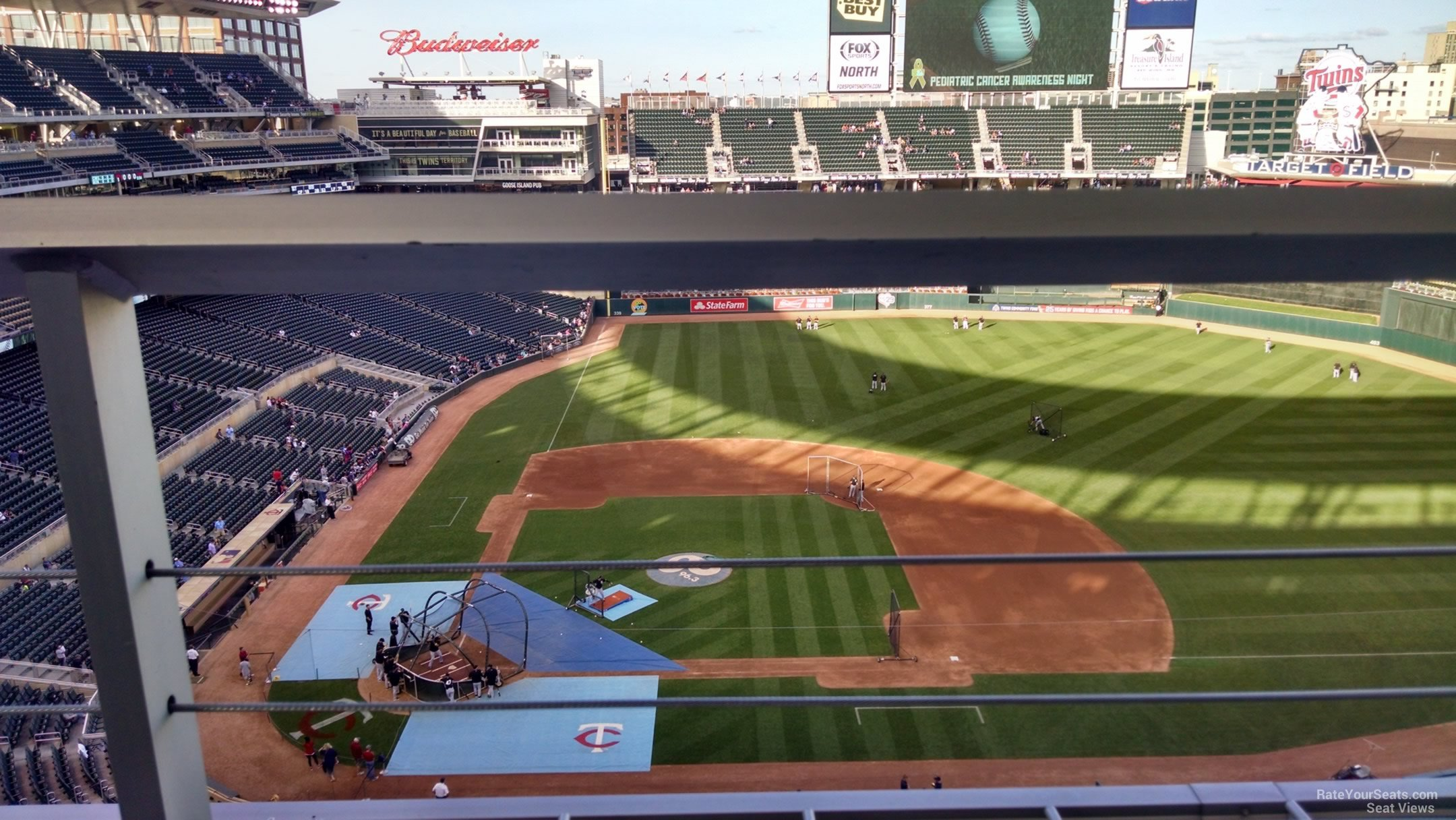 Seat View for Target Field Section 310, Row 1