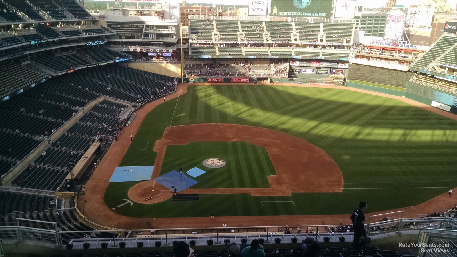 Seat View for Target Field Section 310, Row 11