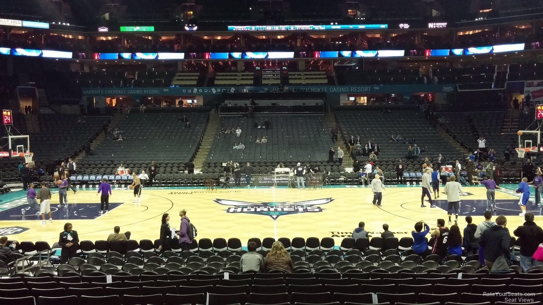 Spectrum Center Section 114 Charlotte Hornets