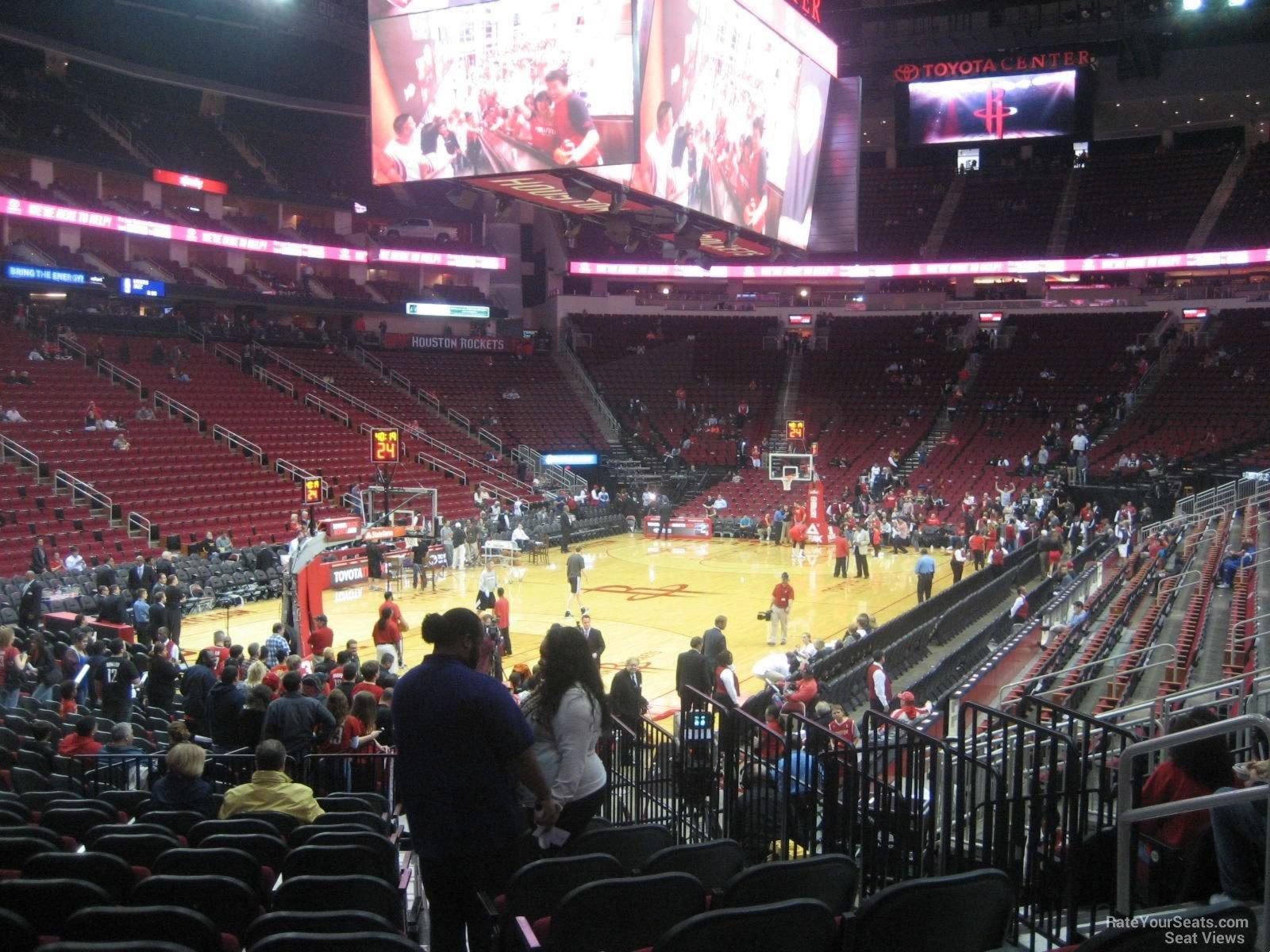 Toyota Center Section 112 Houston Rockets