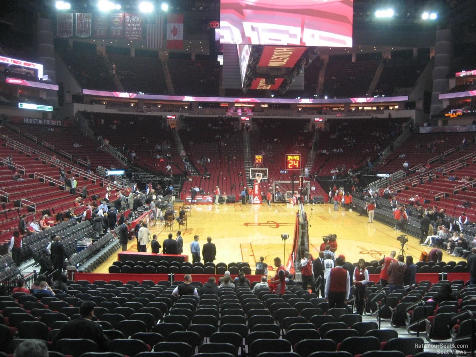 toyota center section 114 houston rockets. Black Bedroom Furniture Sets. Home Design Ideas