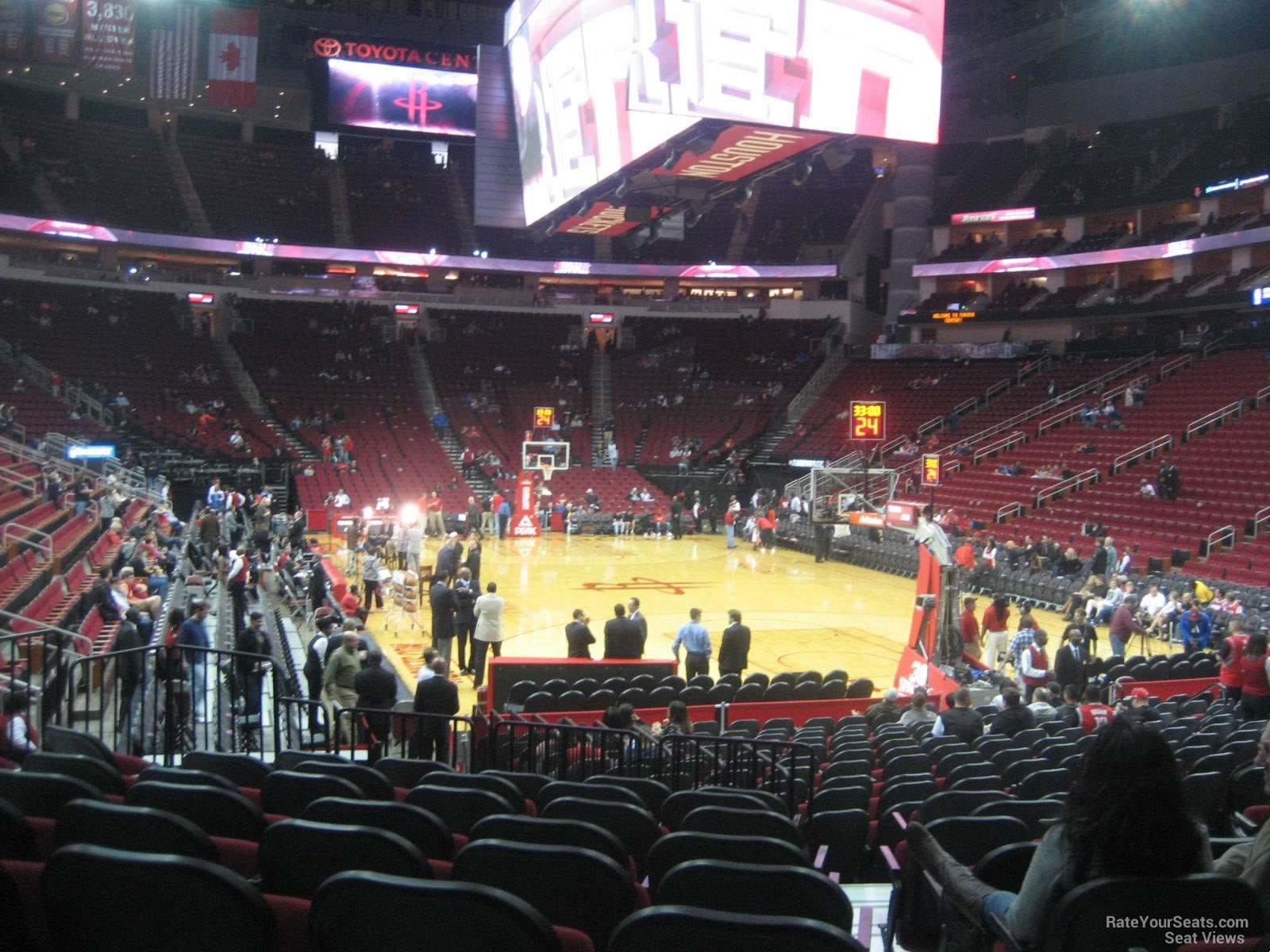 Seat View For Toyota Center Section 115, ...
