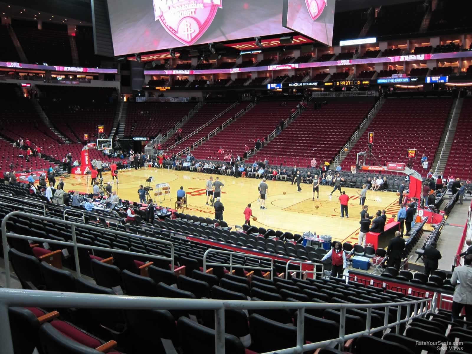 Seat View For Toyota Center Section 117, Row 15, ...