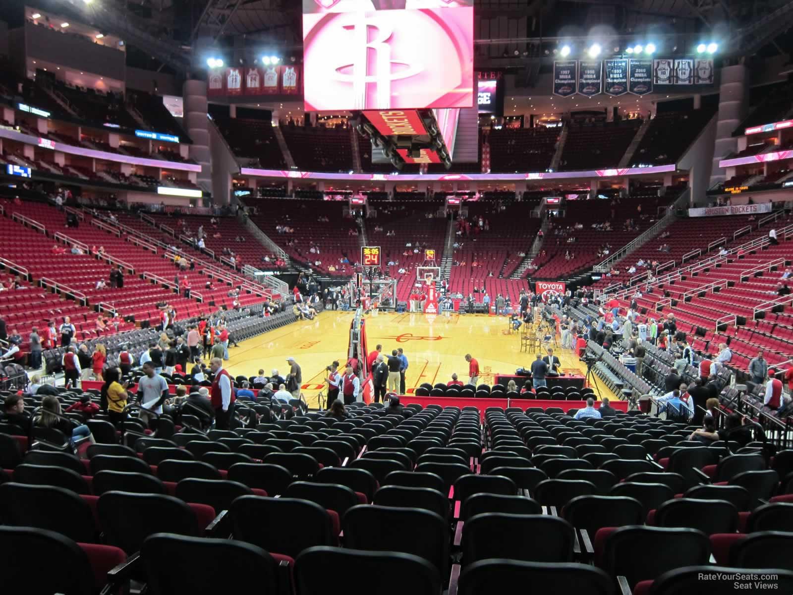 Toyota Center Section 126 Houston Rockets