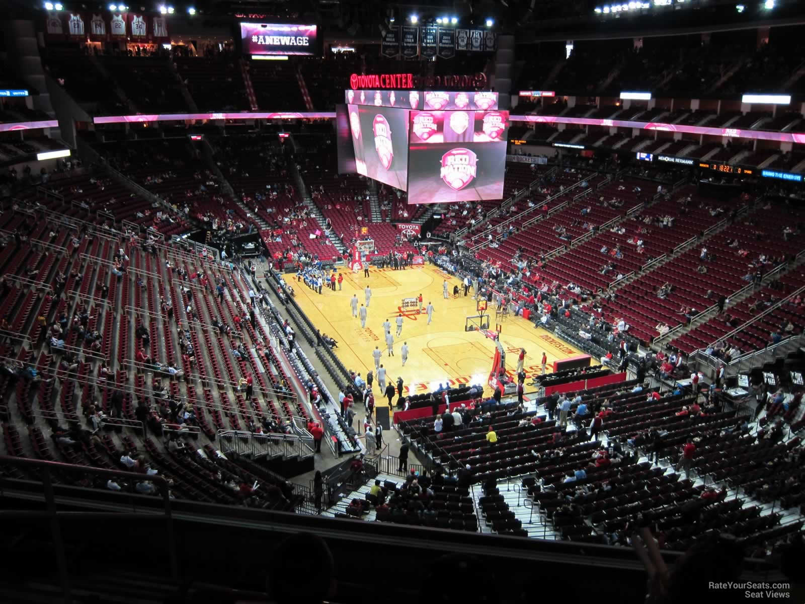 Toyota Center Section Row Seat On S