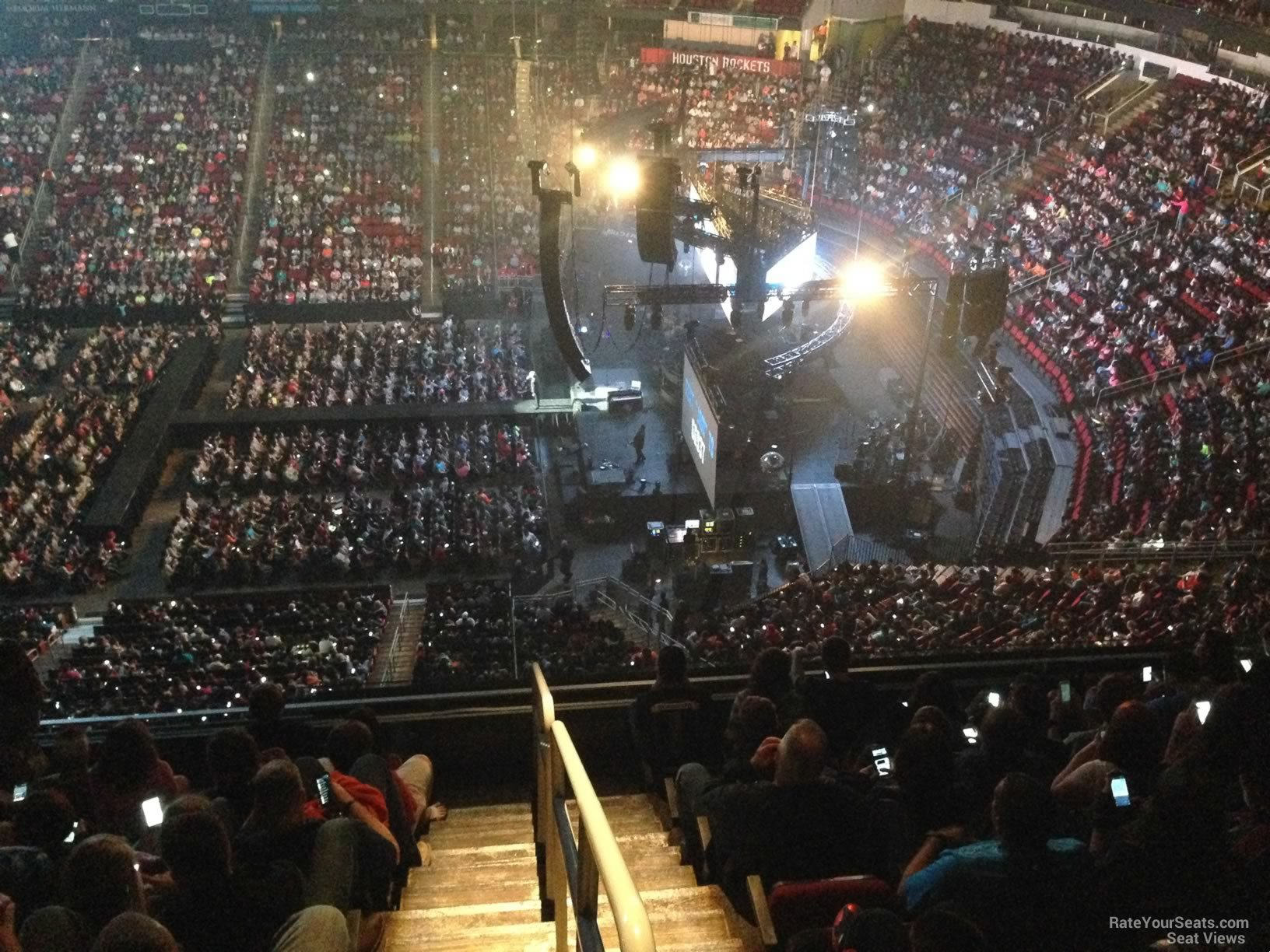 Lovely Concert Seat View For Toyota Center Section 407