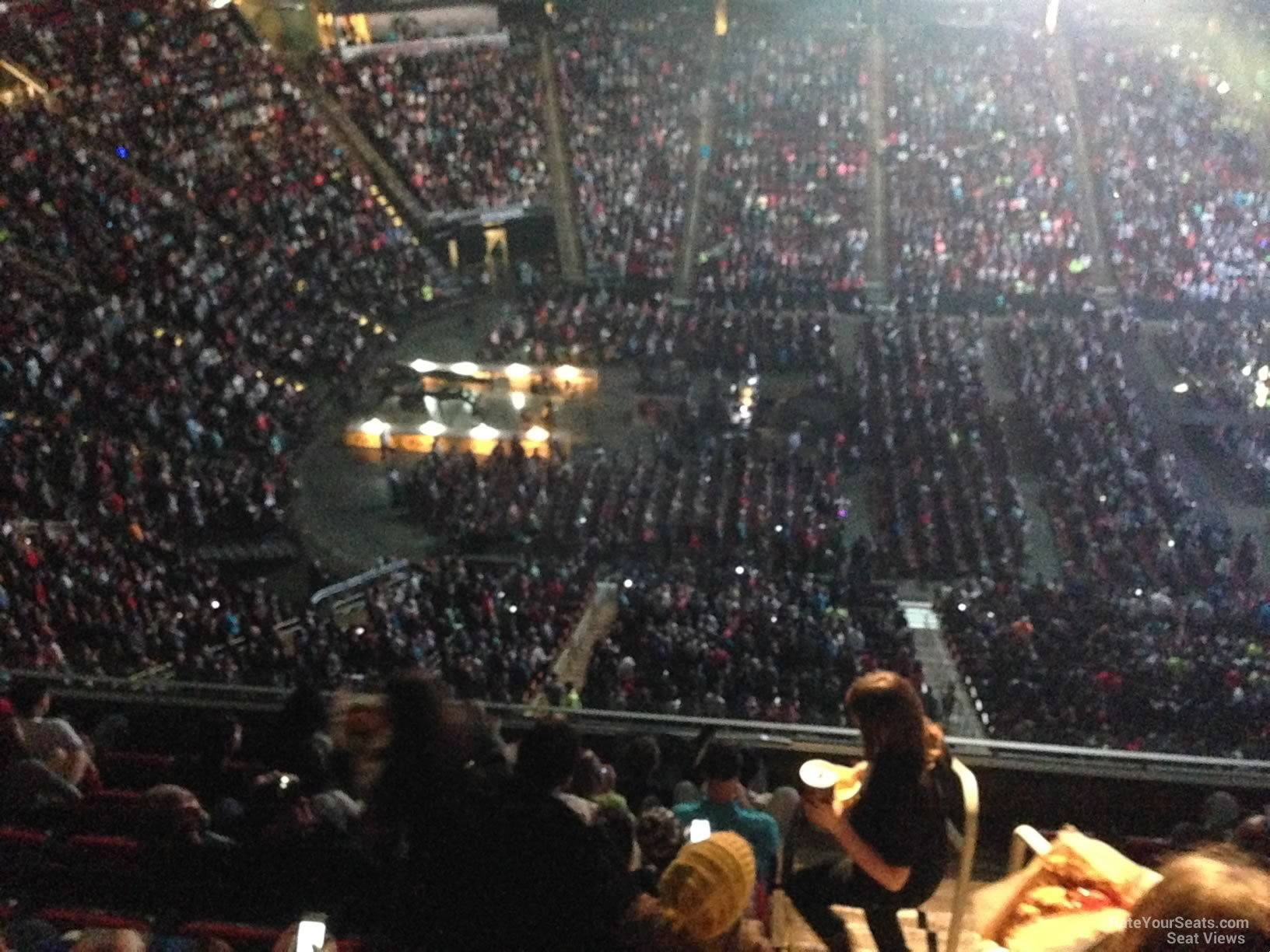 Concert Seat View For Toyota Center Section 411