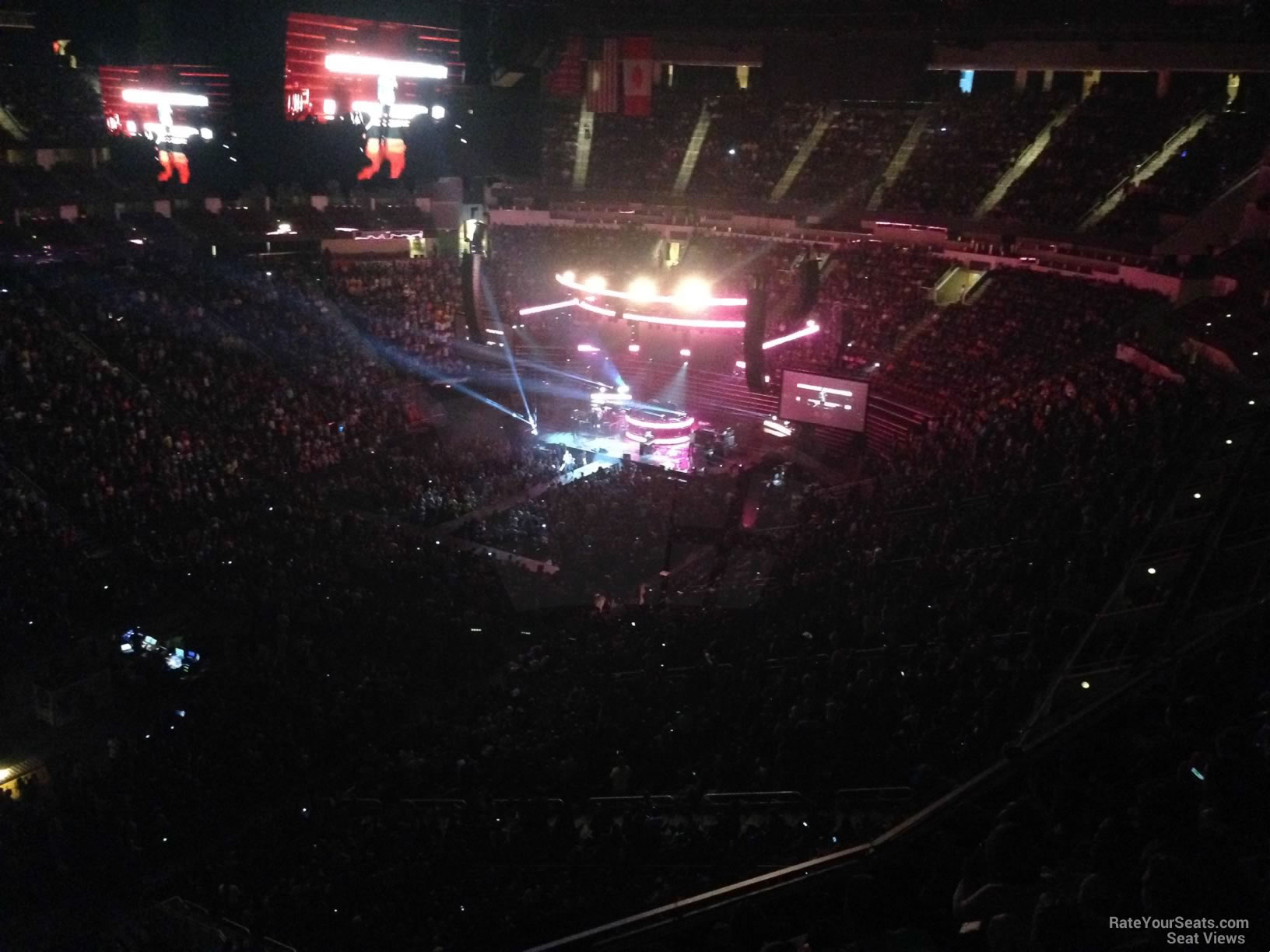 Concert Seat View for Toyota Center Section 413