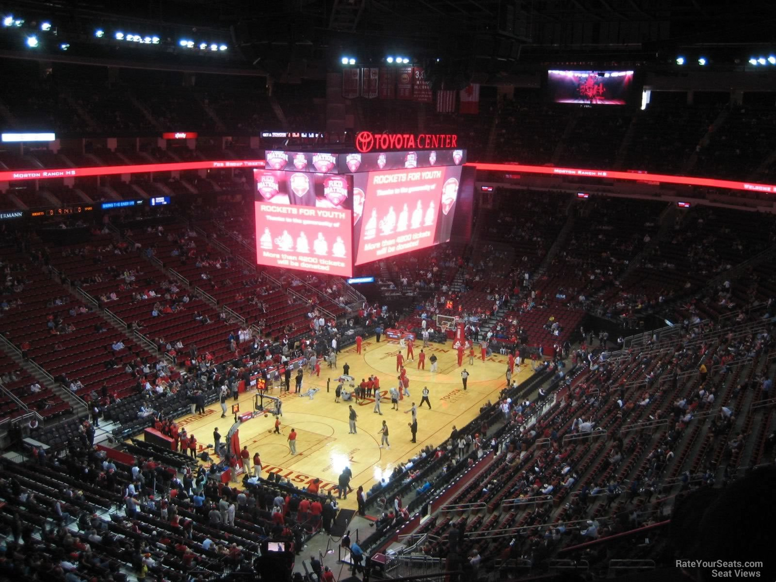Seat View For Toyota Center Section 415 ...