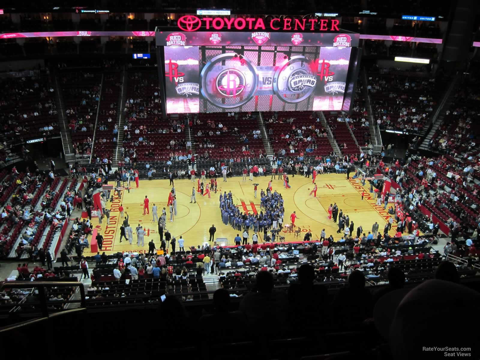 High Quality Seat View For Toyota Center Section 427, Row 6, ...