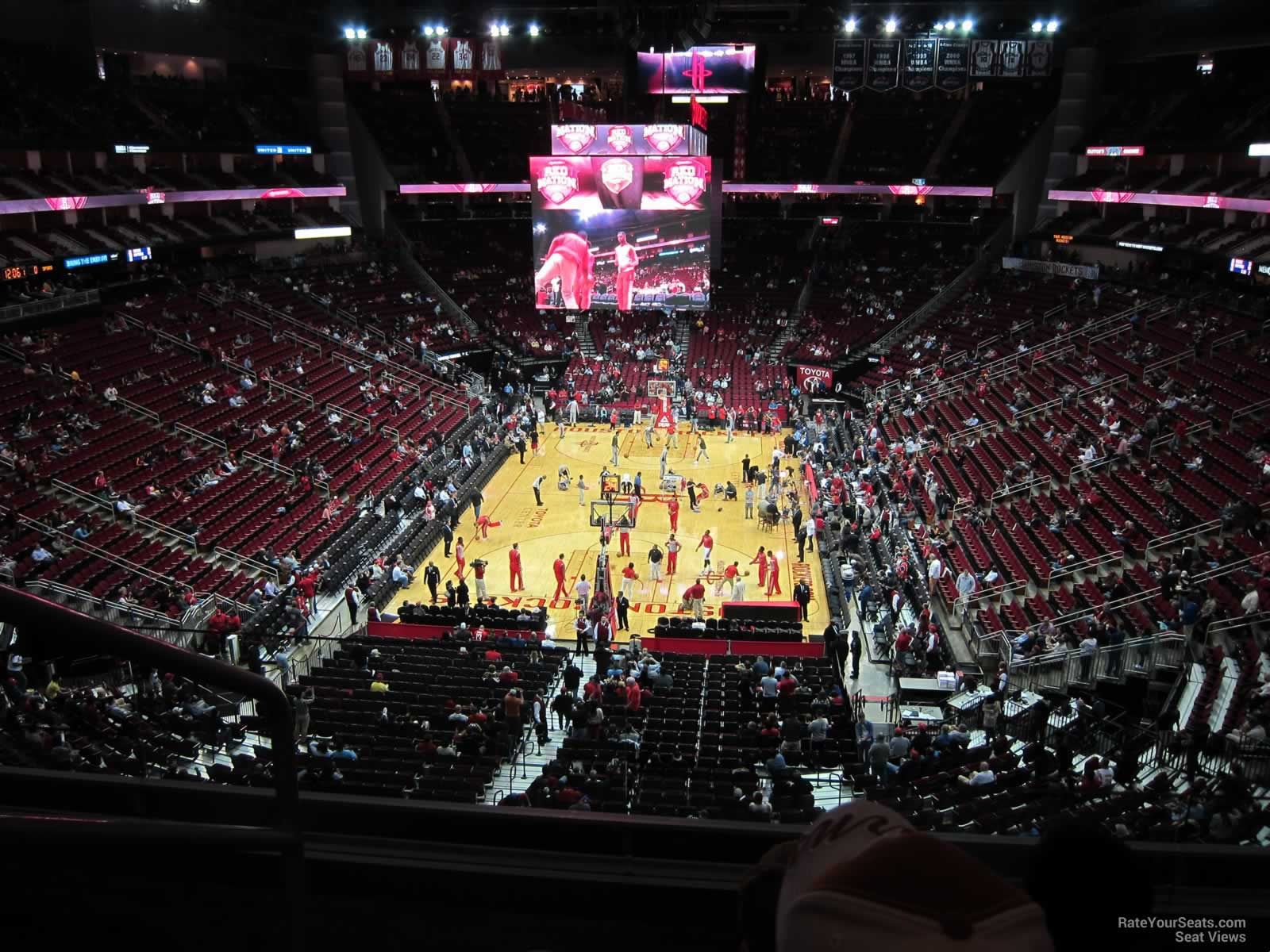 Seat View For Toyota Center Section 434, Row 3, ...
