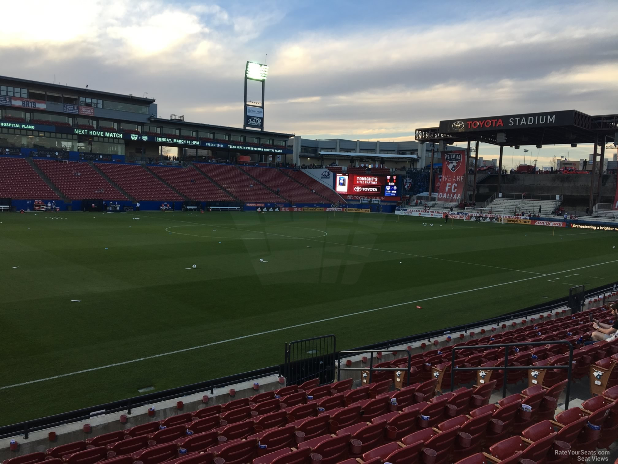 Soccer Seat View For Toyota Stadium Section 124
