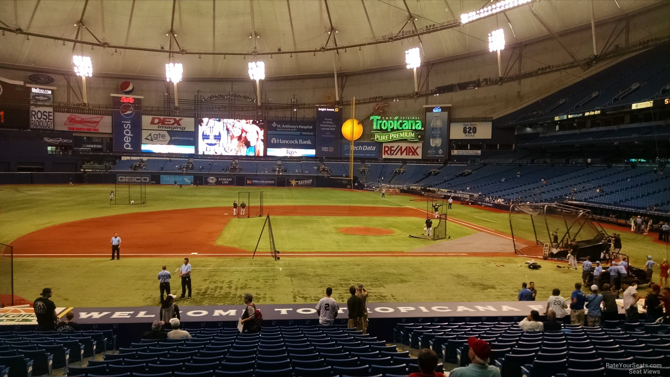 Tropicana Field Section 115 - Tampa Bay Rays ...