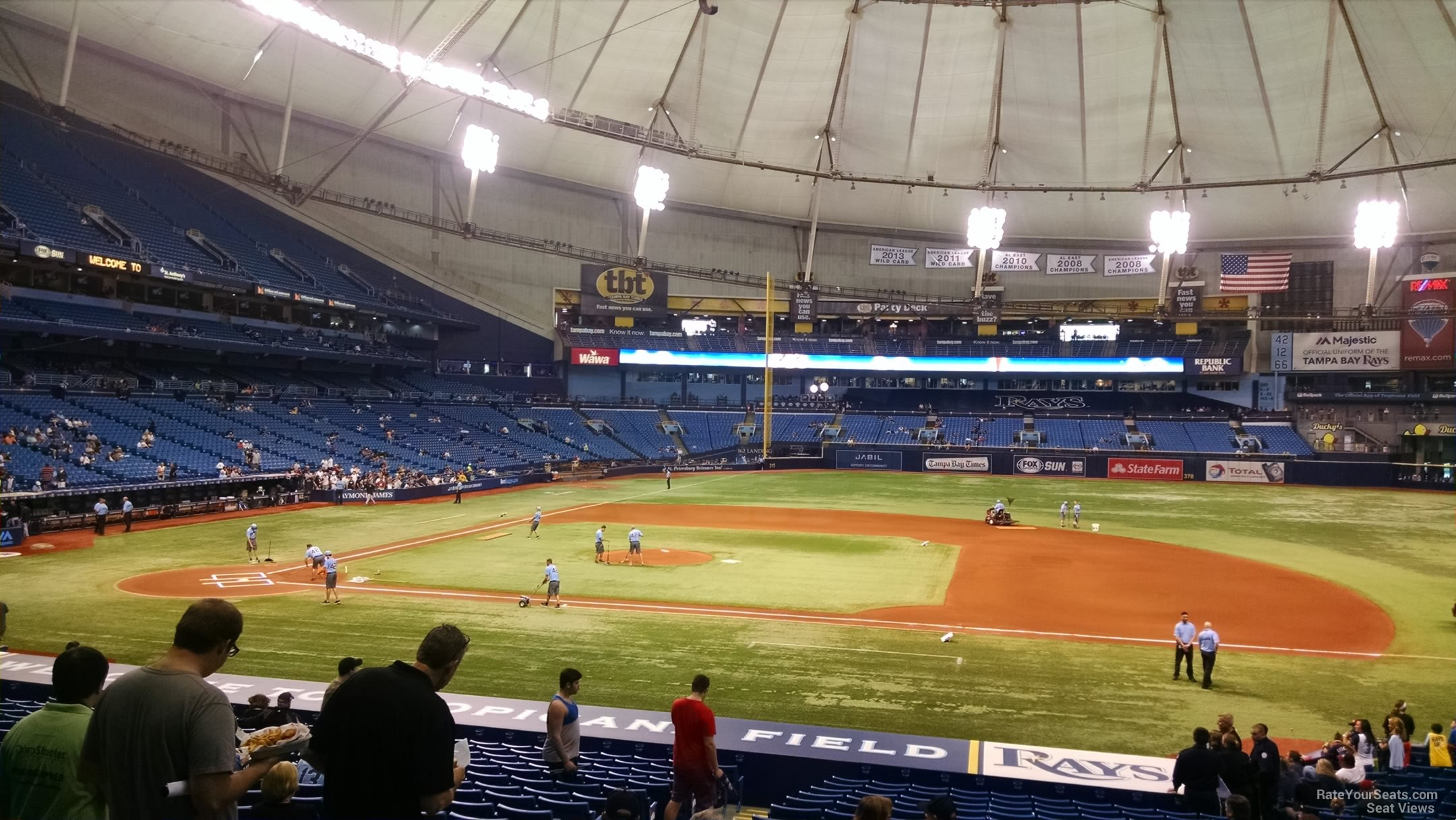 Tropicana Field Section 118 Tampa Bay Rays