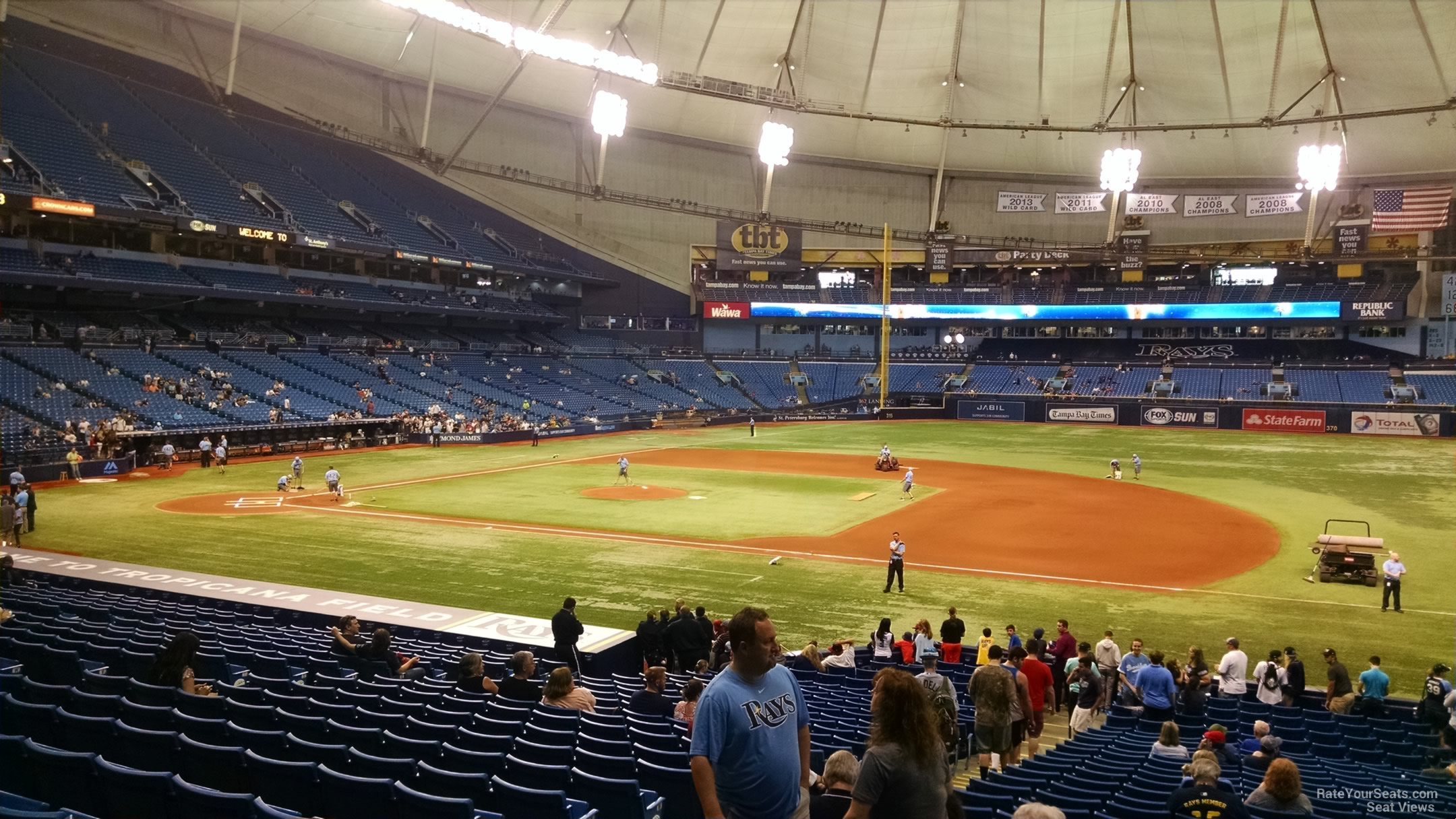 Tropicana Field Section 122 - Tampa Bay Rays ...