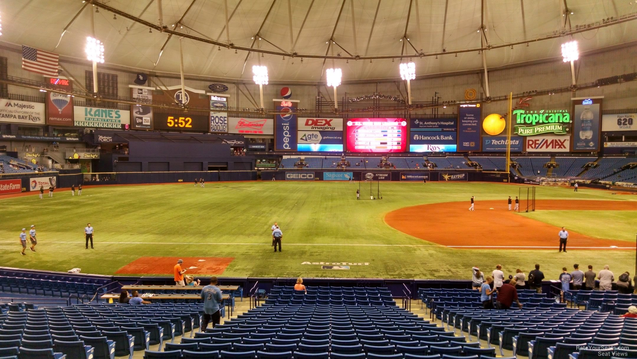 Third Row Seating >> Tropicana Field Section 123 - Tampa Bay Rays - RateYourSeats.com