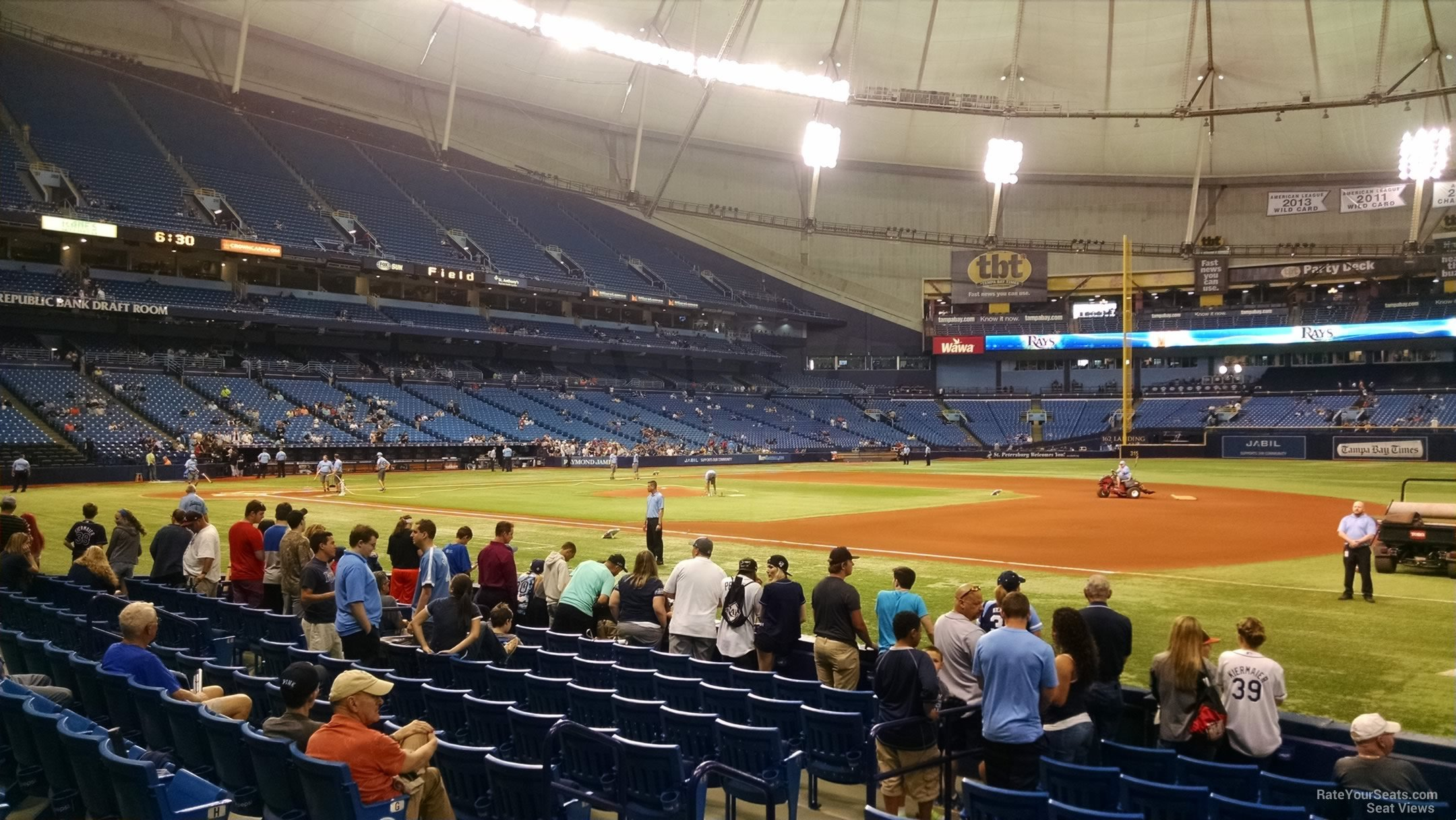 Third Row Seating >> Tropicana Field Section 124 - Tampa Bay Rays - RateYourSeats.com