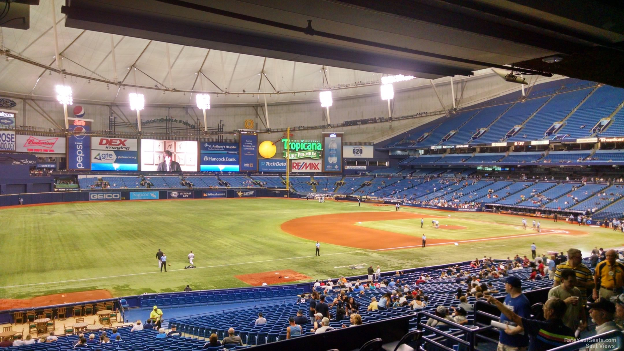 Tropicana Field Seating Chart Section 129 Elcho Table