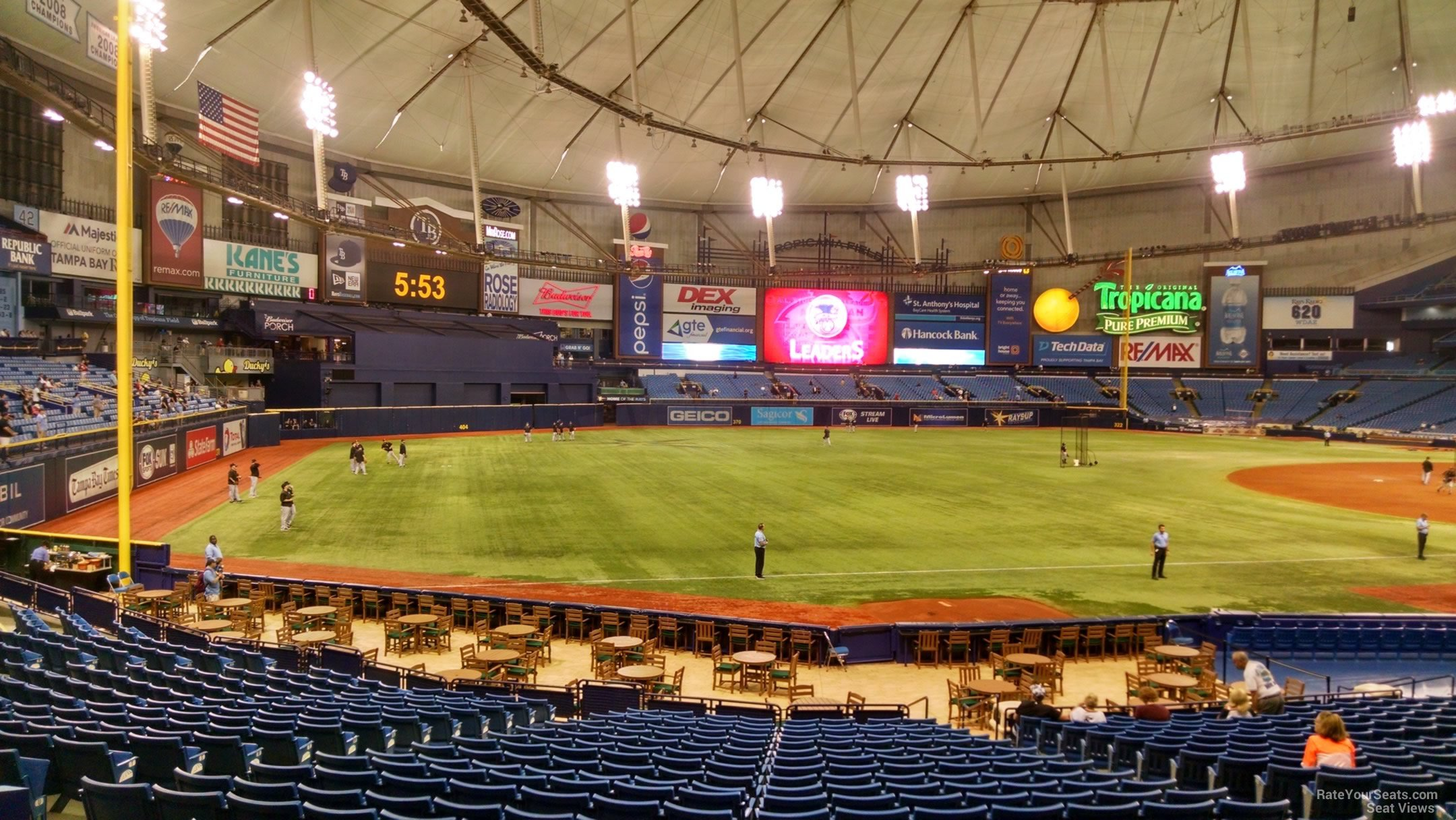 Tropicana Field Section 131 Tampa Bay Rays Rateyourseatscom