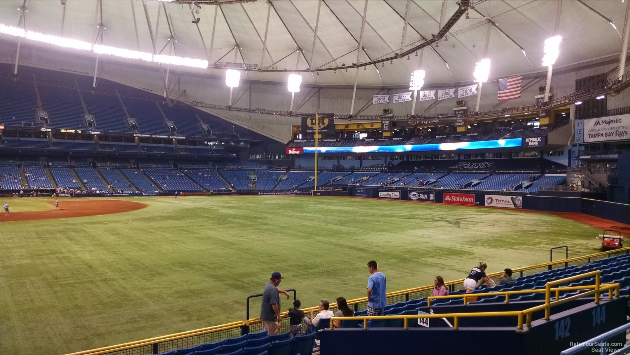 Tropicana Field Section 142 - Tampa Bay Rays ...