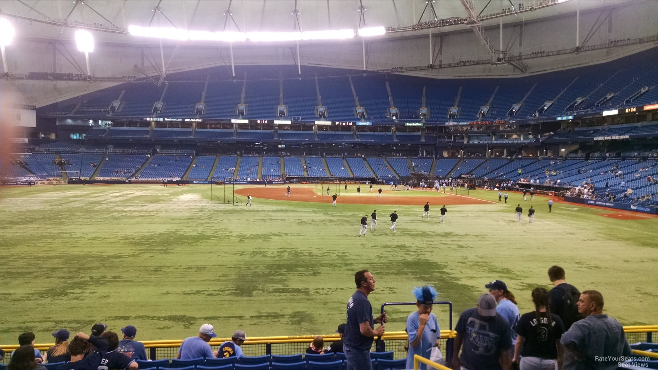 Tampa Bay Rays Seat View for Tropicana Field Section 147, Row DD