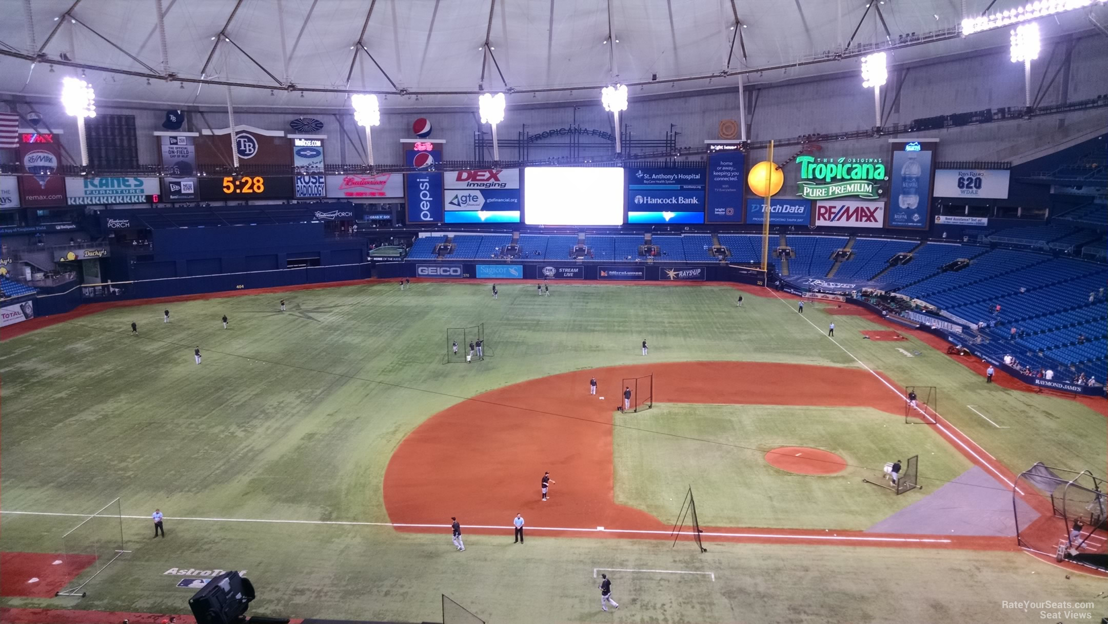 Tropicana Field Section 311 - Tampa Bay Rays ...
