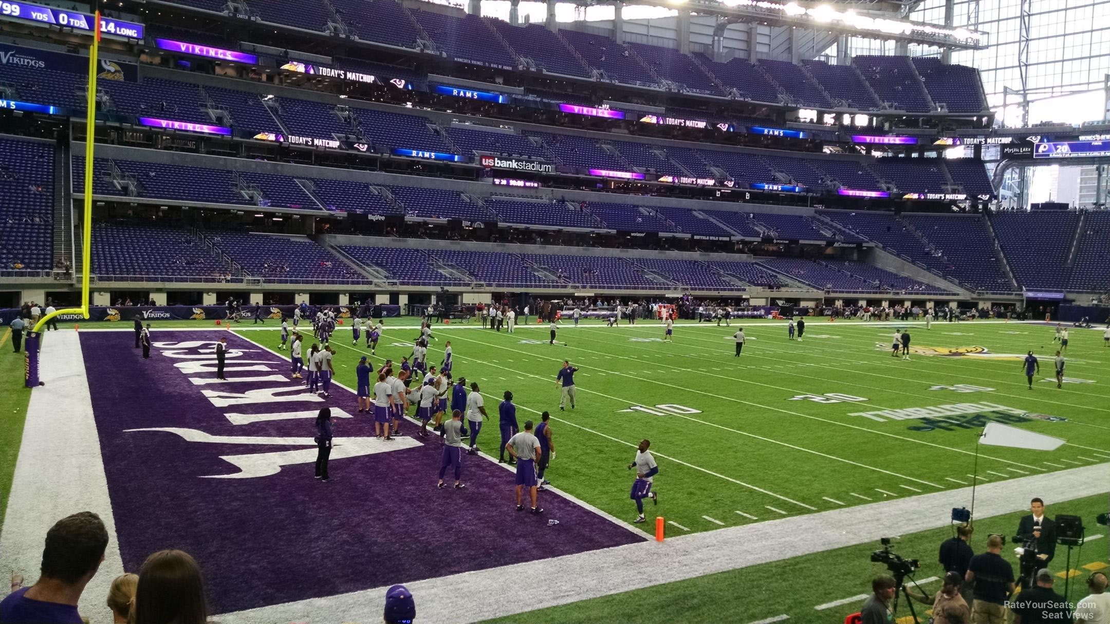 US Bank Stadium Section 114 RateYourSeatscom