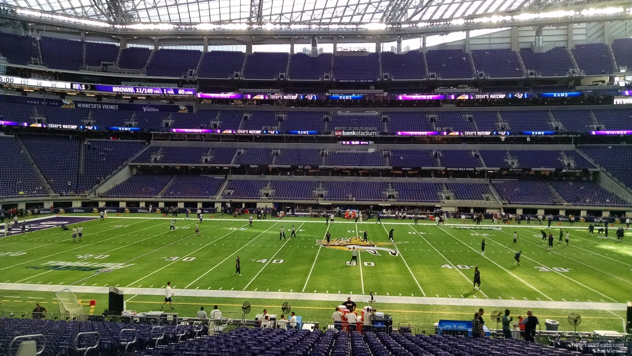 Us Bank Stadium Seating Chart Vikings Brokeasshome Com