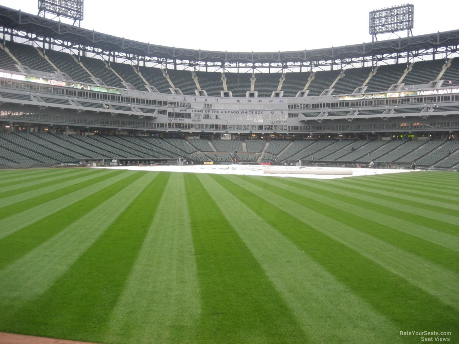 Seat View for Guaranteed Rate Field Section 100, Row 1