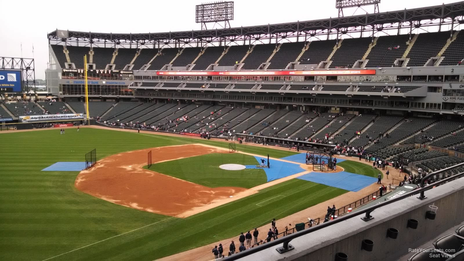 Seat View for Guaranteed Rate Field Section 346, Row 3