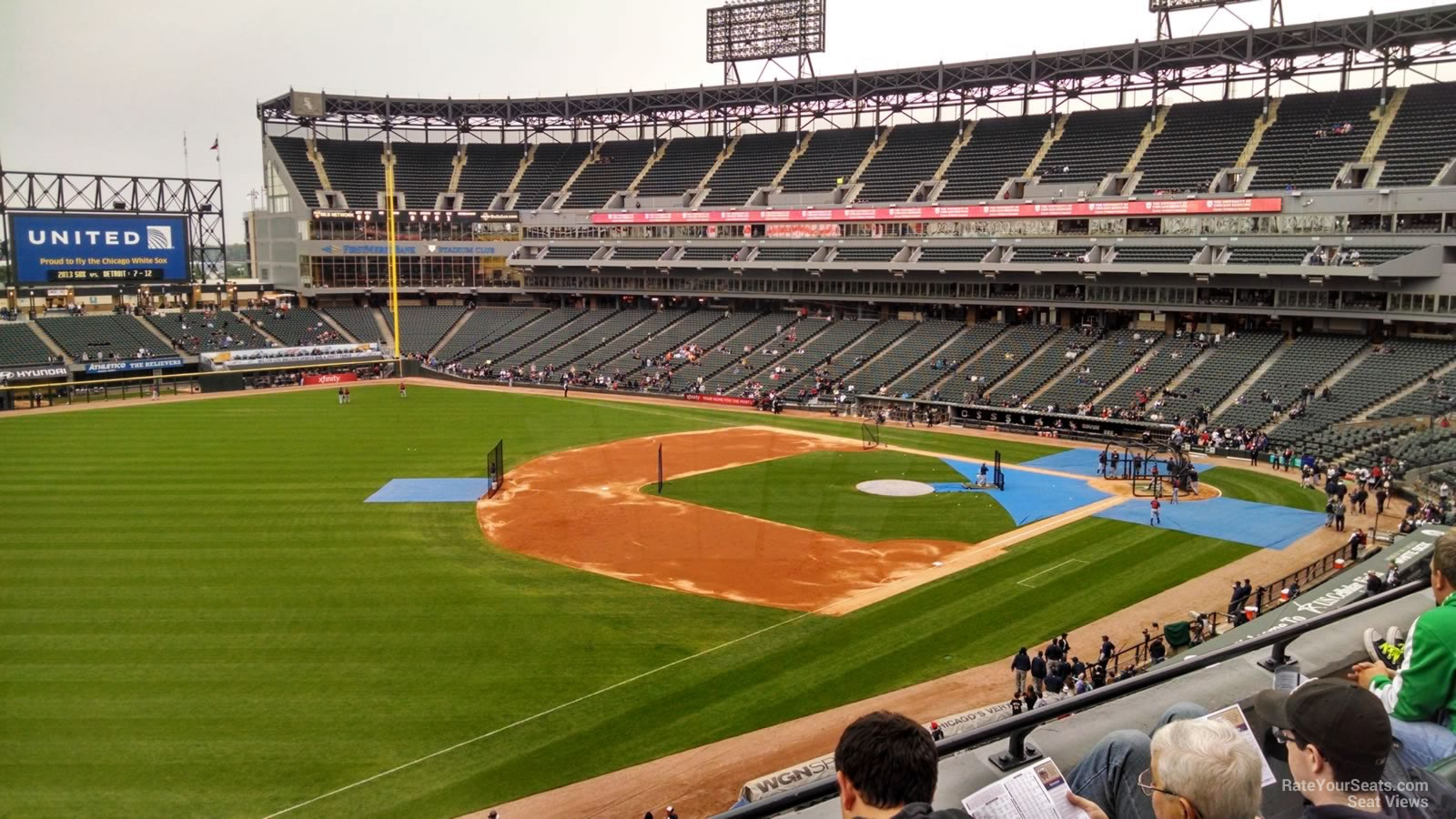 Seat View for Guaranteed Rate Field Section 348, Row 3