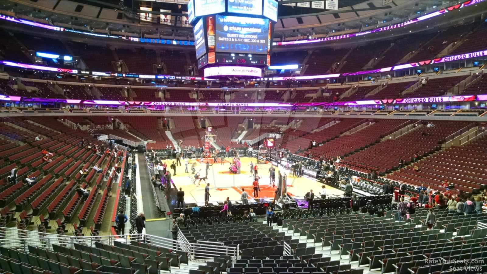 United Center Section 107 - Chicago Bulls - RateYourSeats.com