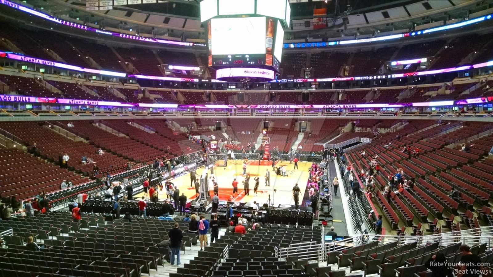 United Center Section 118 >> United Center Section 116 - Chicago Bulls - RateYourSeats.com