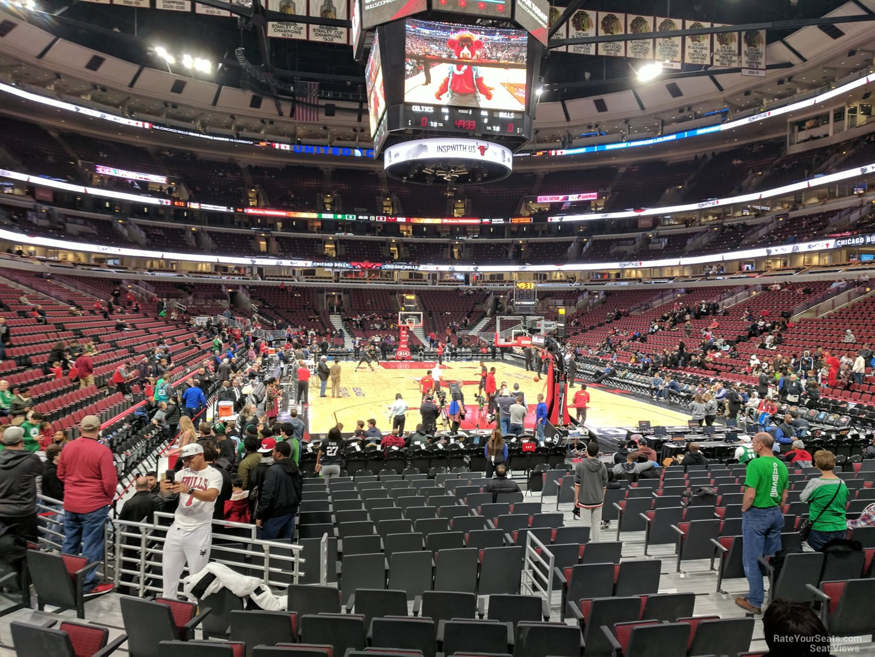 Chicago Bulls Seat View for United Center Section 118, Row 6