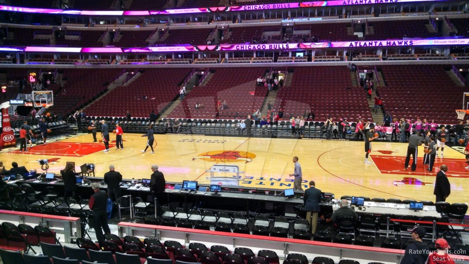Chicago Bulls Seat View for United Center Section 122, Row 10