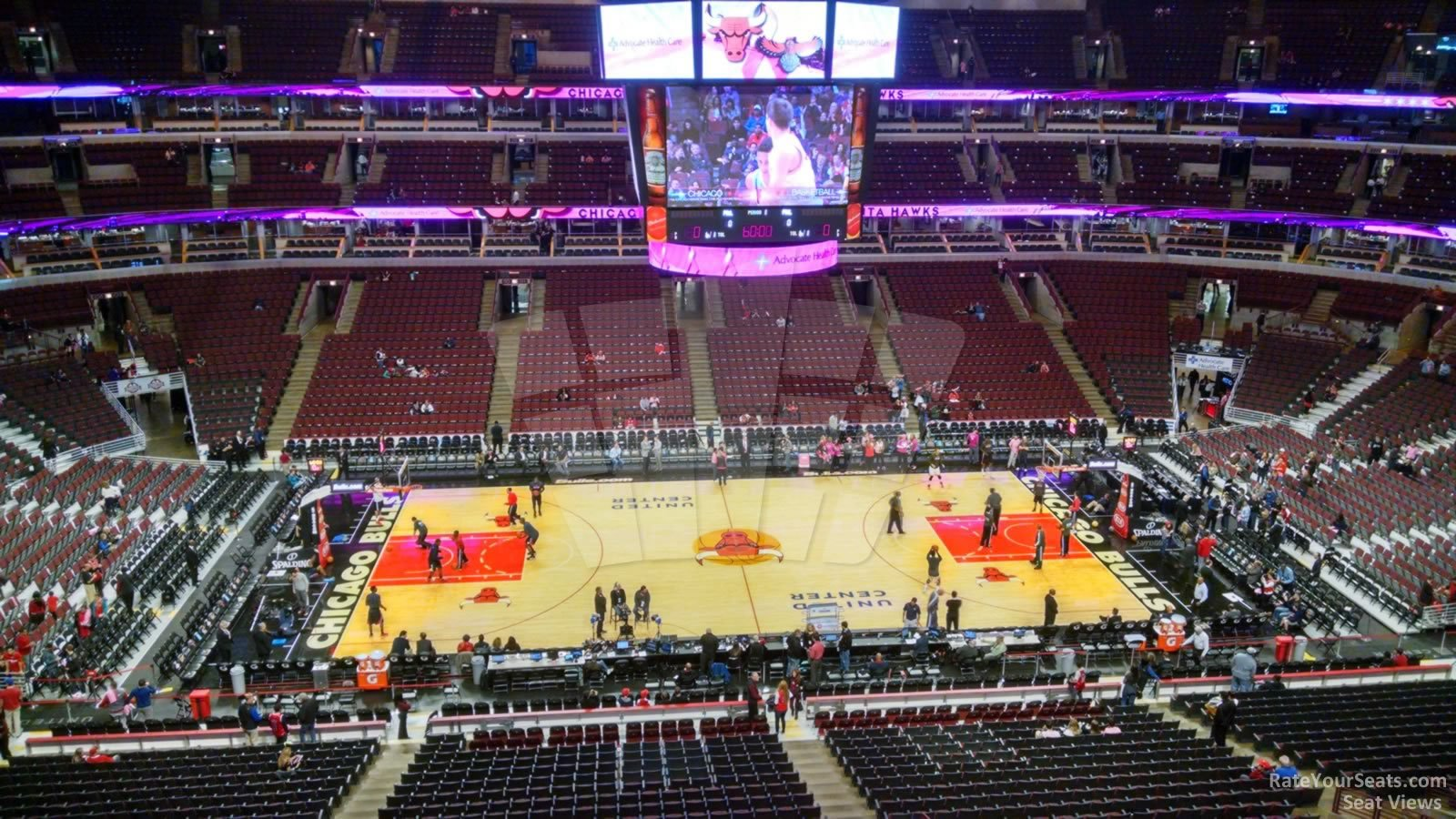 Chicago Bulls Seat View for United Center Section 301, Row 2