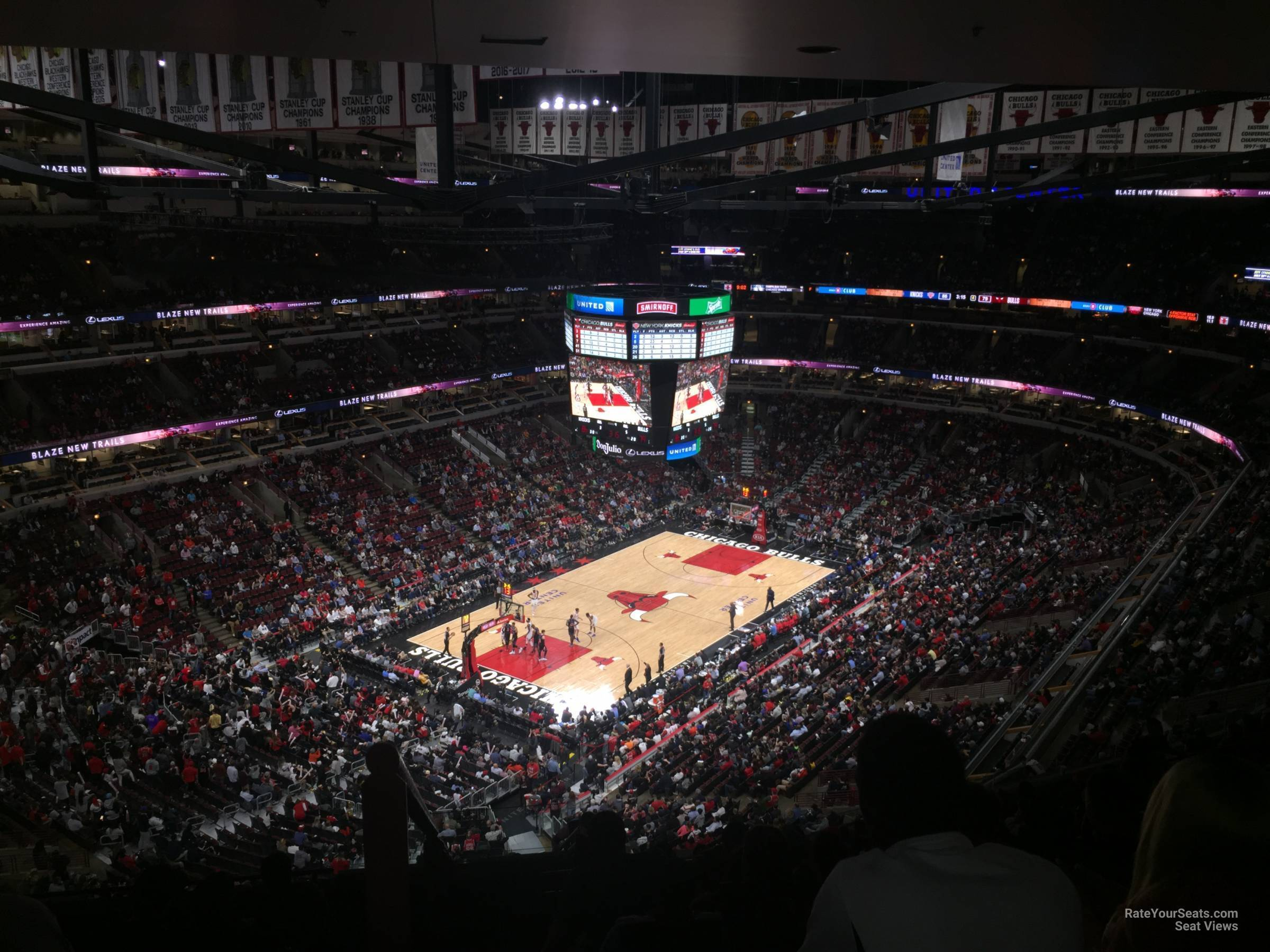 Chicago Bulls Seat View for United Center Section 305, Row 17